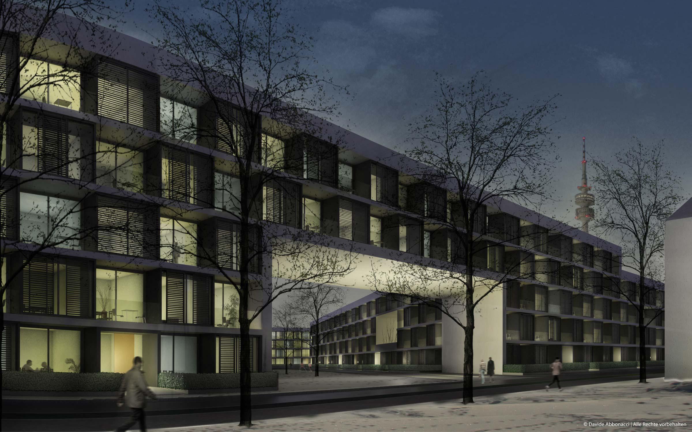 d mmerung und nachtbilder davide abbonacci 3d visualisierung berlin. Black Bedroom Furniture Sets. Home Design Ideas