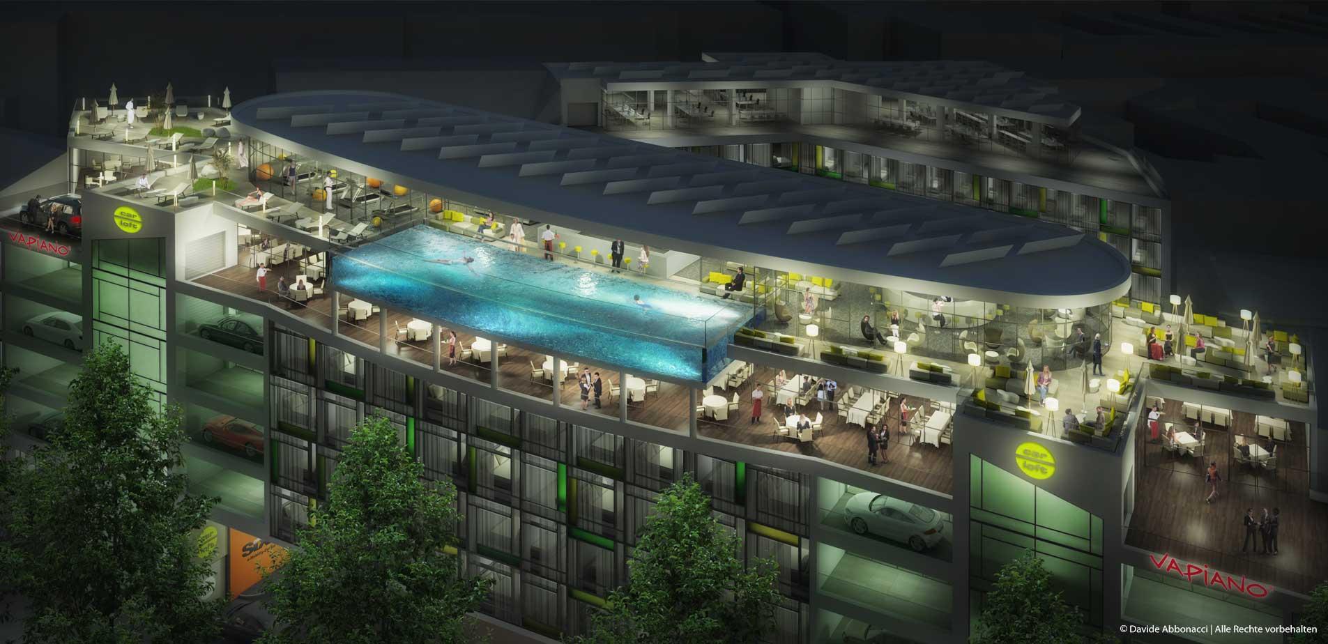 CarLoft® Tempelhof, Berlin | United Architects | 2014 Visualisierung Projektpräsentation