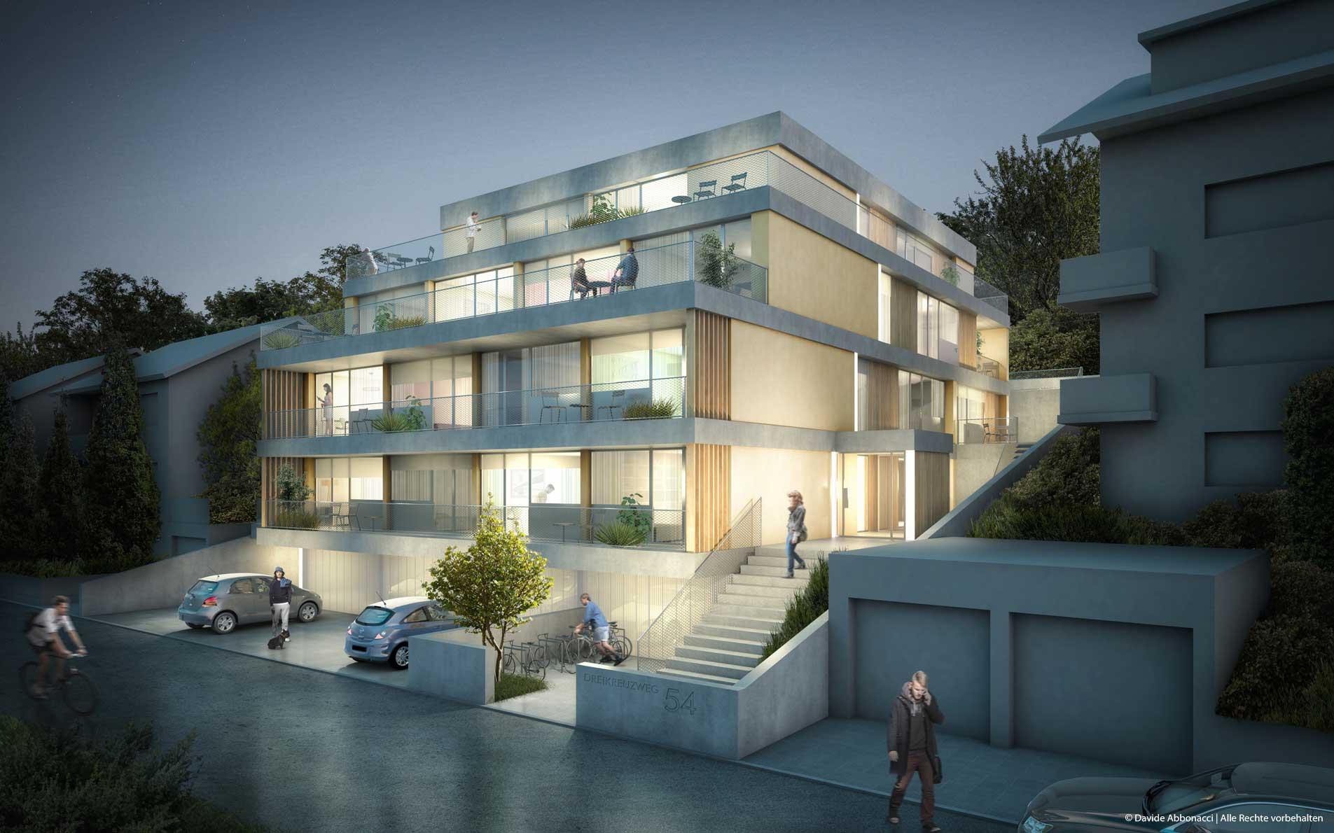SRH Wohnheim Neckargemünd | Motorlab Architekten | 2015 Visualisierung Projektpräsentation