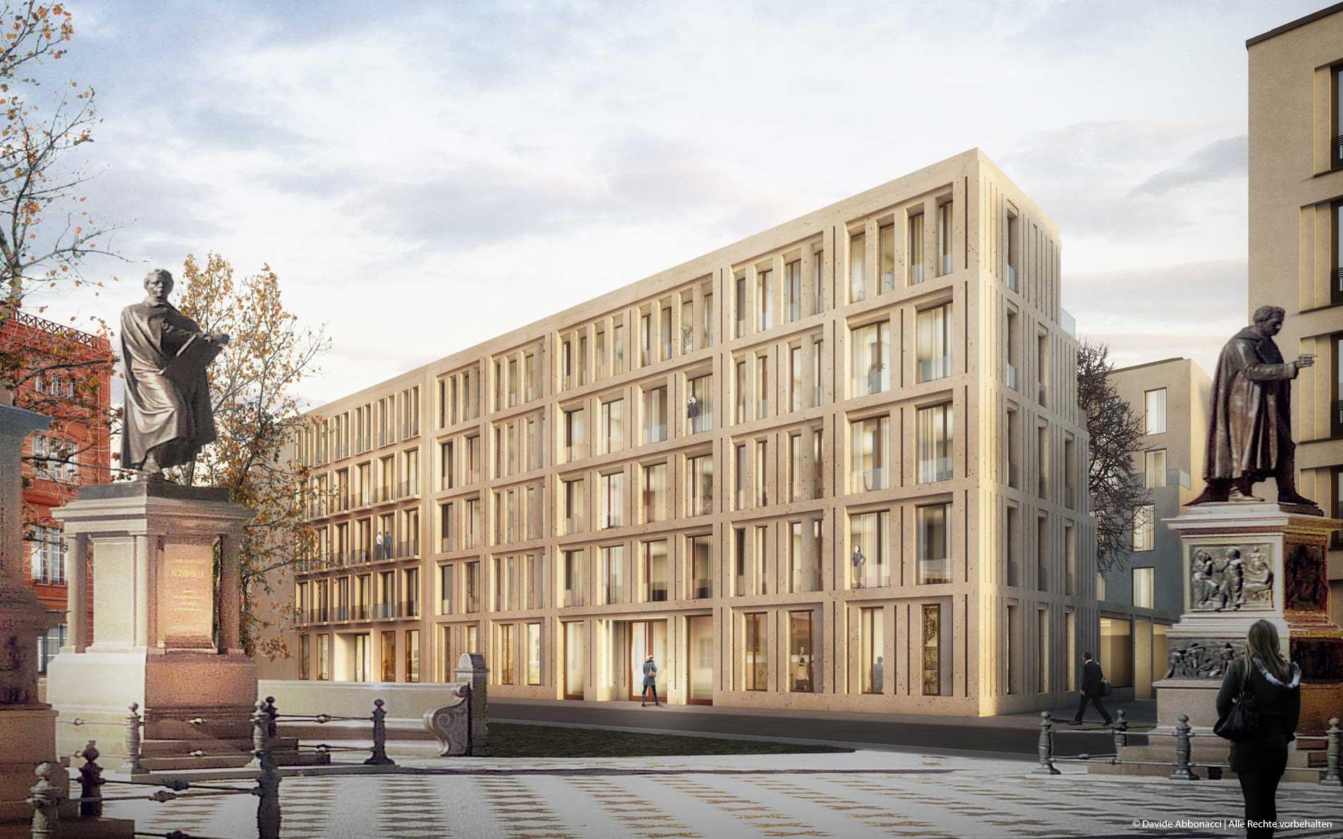 Schinkelplatz Berlin | Cramer Neumann Architekten | 2014 Wettbewerbsvisualisierung | Finalist