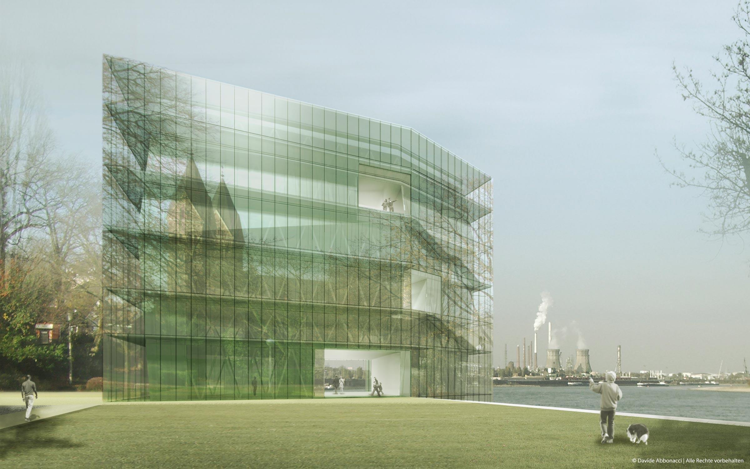 :Chemtech - Ruthmanns Wiese, Wesseling   Bruno Fioretti Marquez Architekten   2008 Wettbewerbsvisualisierung   1. Preis