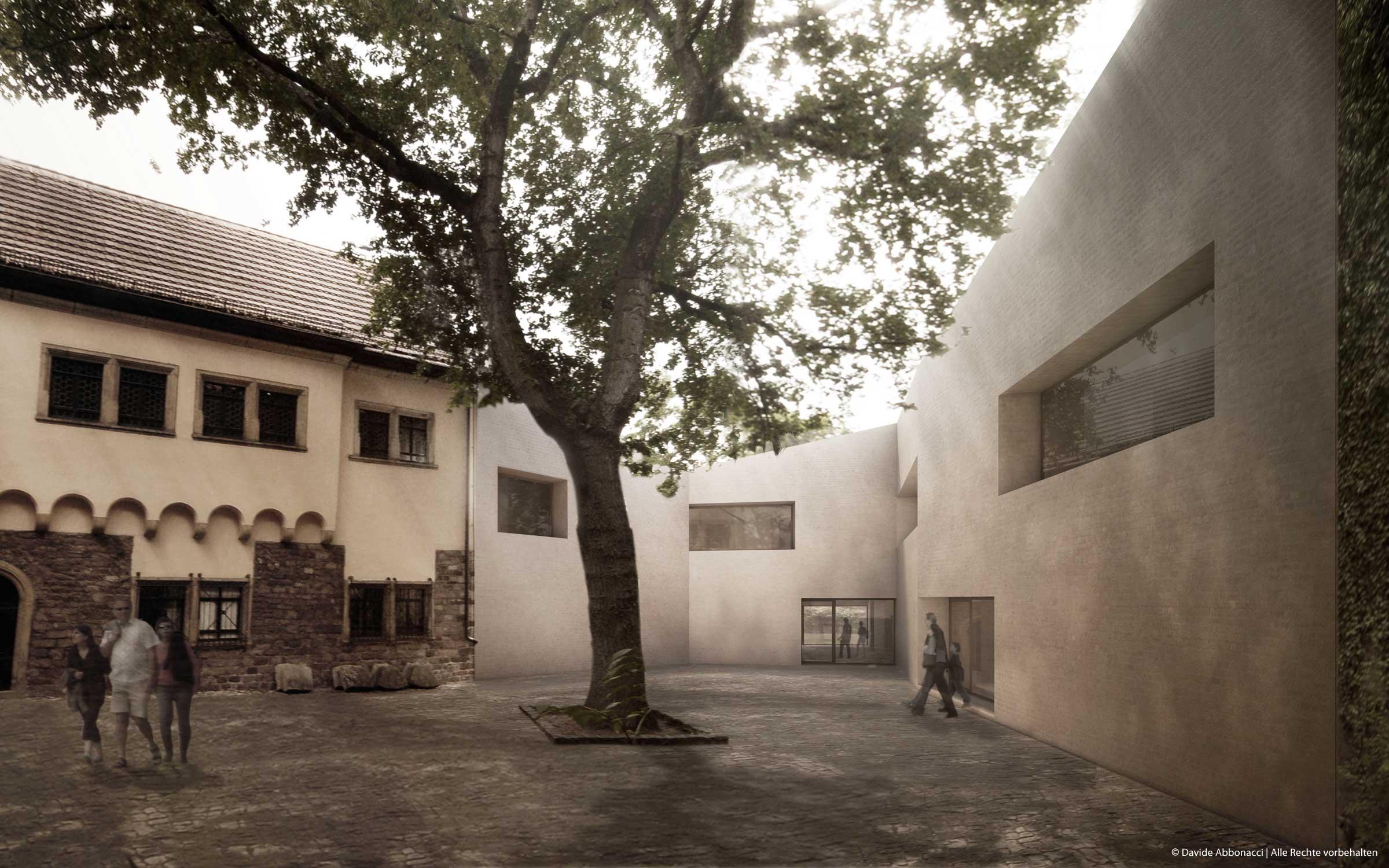 Martin Luther Sterbehaus, Eisleben   Bruno Fioretti Marquez Architekten   2009 Wettbewerbsvisualisierung   2. Preis