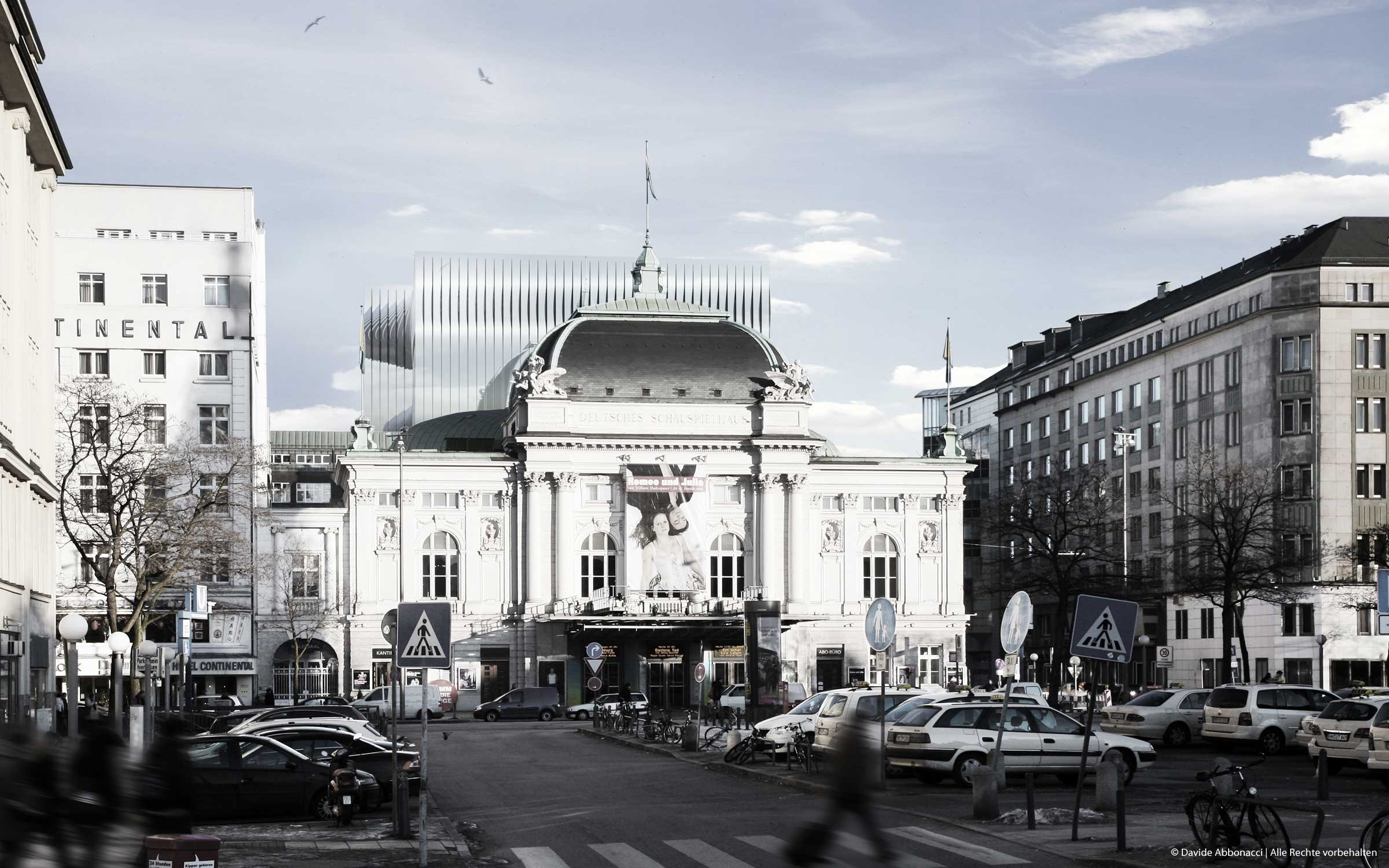 Deutsches Schauspielhaus Hamburg   Heide & Von Beckerath Architekten   2010 Wettbewerbsvisualisierung   Finalist