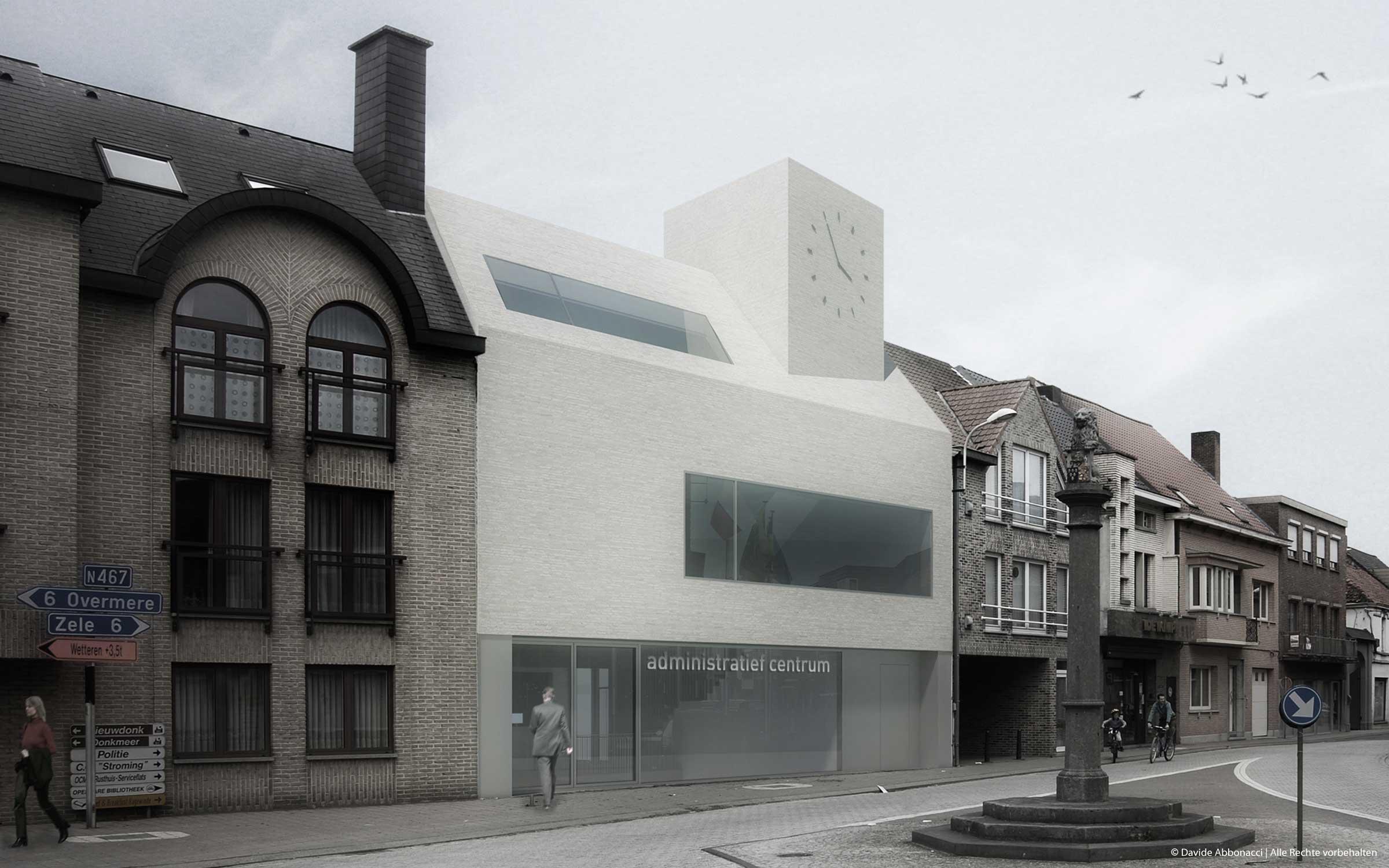 Rathaus Berlare, Belgien   Heide & Von Beckerath Architekten   2010 Wettbewerbsvisualisierung