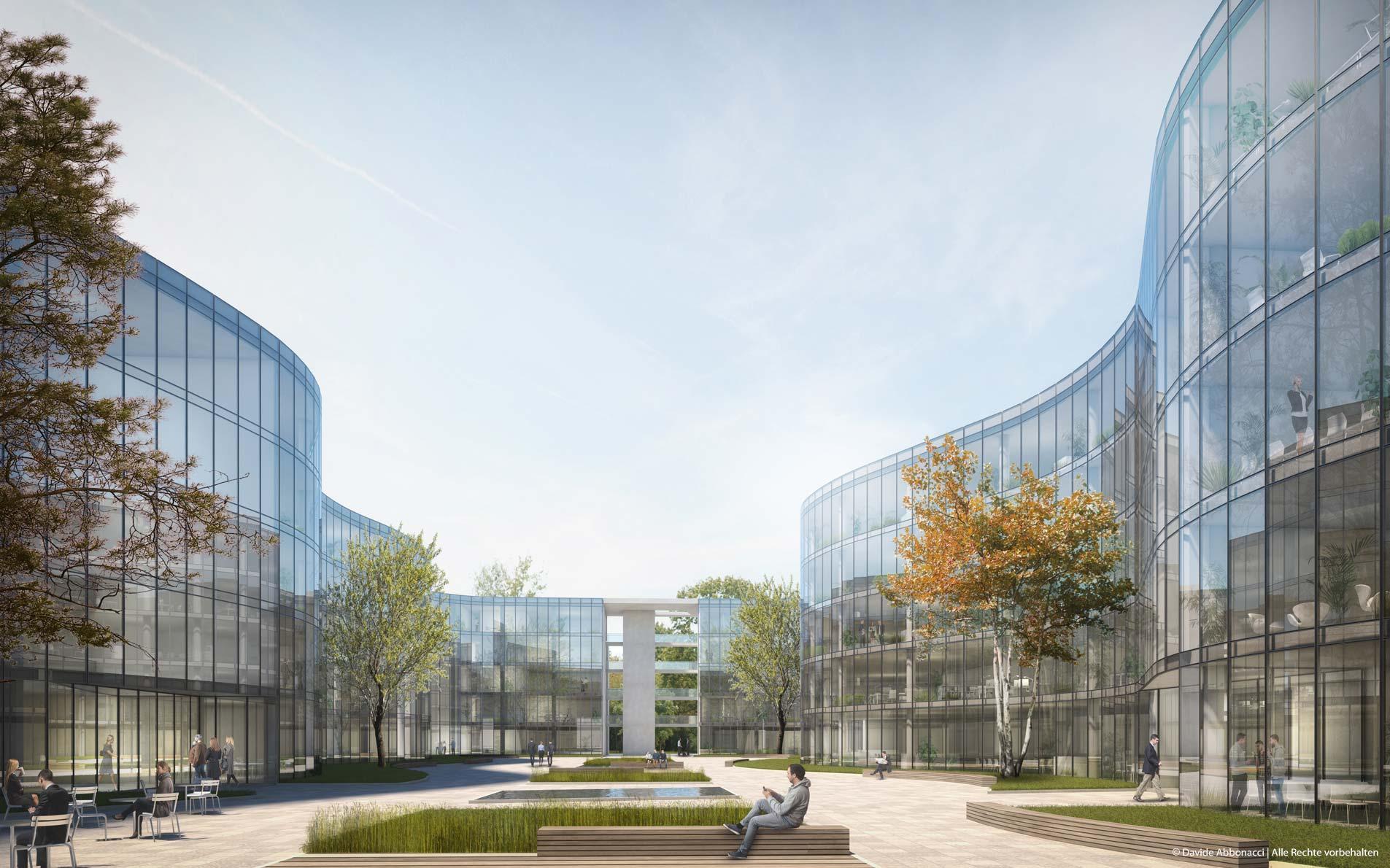 Adlershof - Baufeld 1166, Berlin   brh Architekten + Ingenieure   2016 Wettbewerbsvisualisierung
