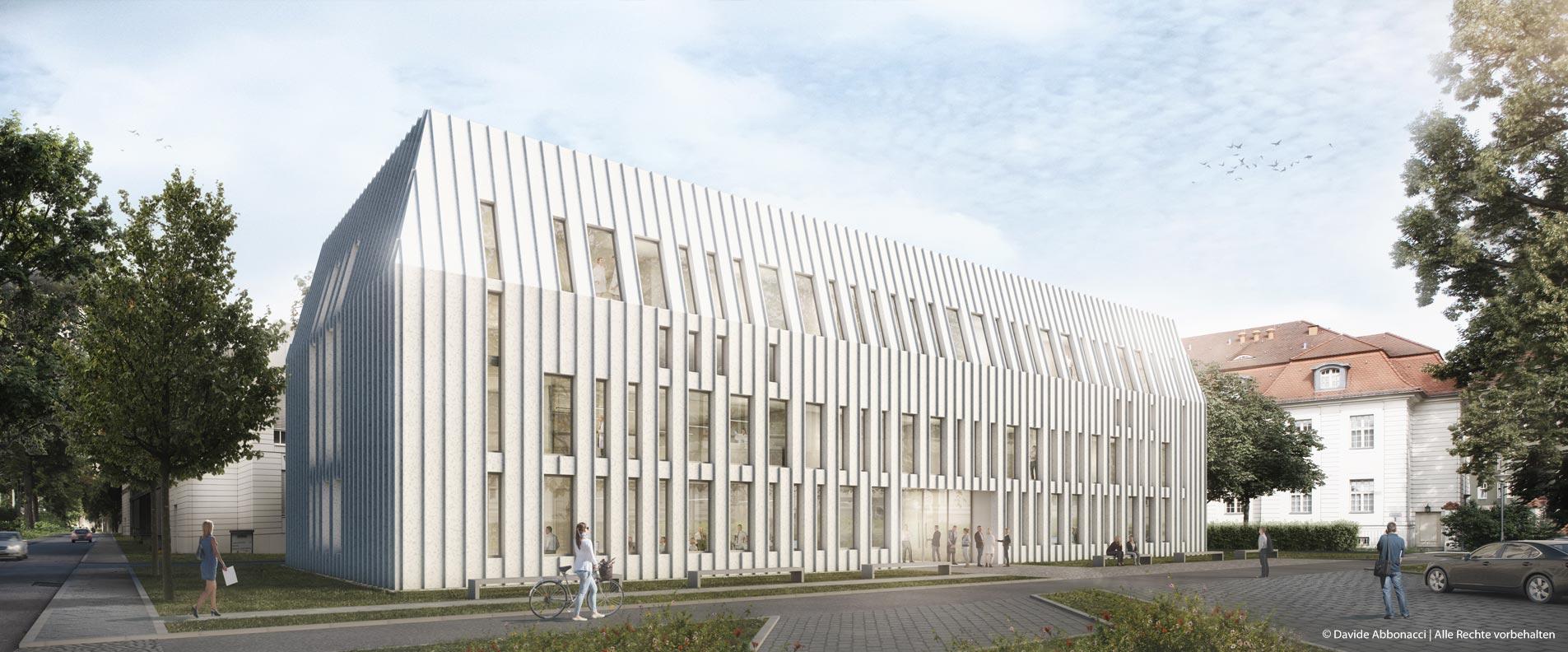 beCAT - Laborgebäude Virchow Klinikum, Berlin   Erchinger Wurfbaum Architekten   2017 Wettbewerbsvisualisierung