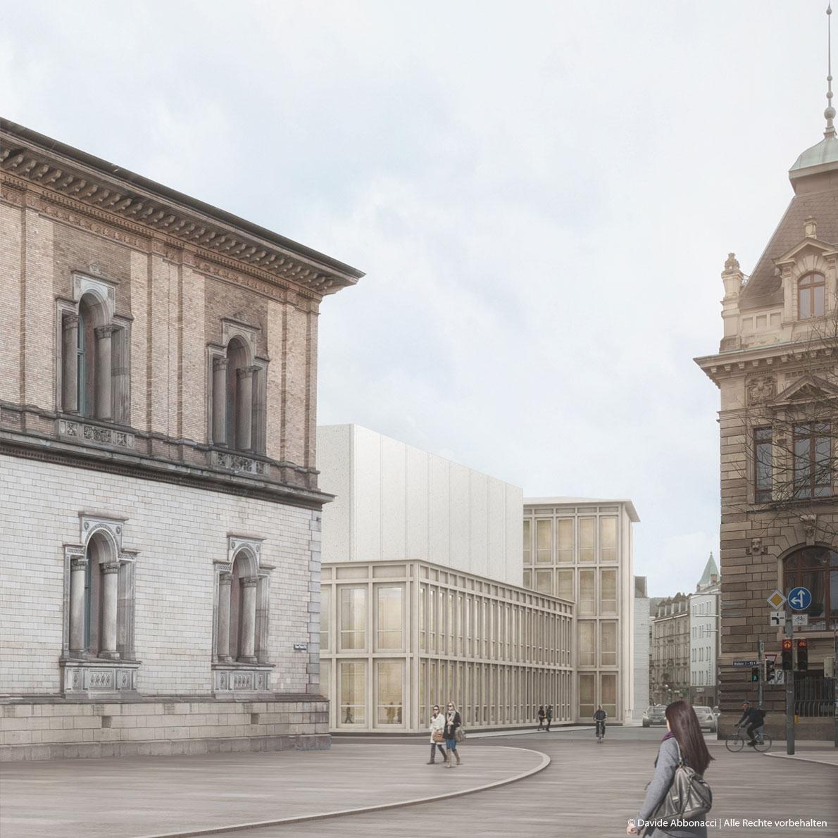Staatliche Kunsthalle Karlsruhe   Kuehn Malvezzi Architekten   2017 Wettbewerbsvisualisierung
