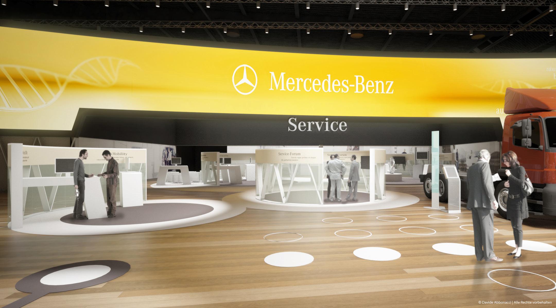 Daimler Mehrmarkenstand - IAA 2010 Nutzfahrzeuge, Hannover   Heide & Von Beckerath Architekten   2010 Messestandvisualisierung