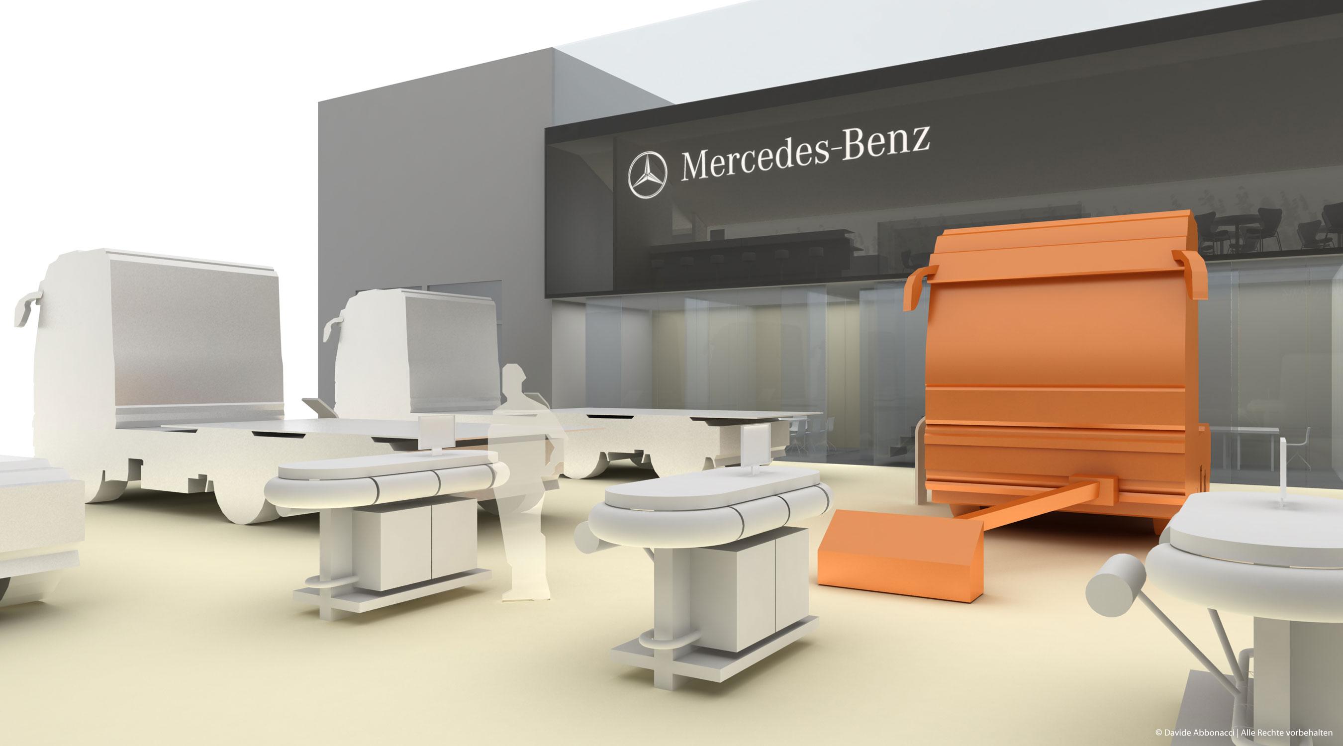 Messestand Mercedes-Benz - Nutzfahrzeuge   Heide & Von Beckerath Architekten   2010 Testentwurf