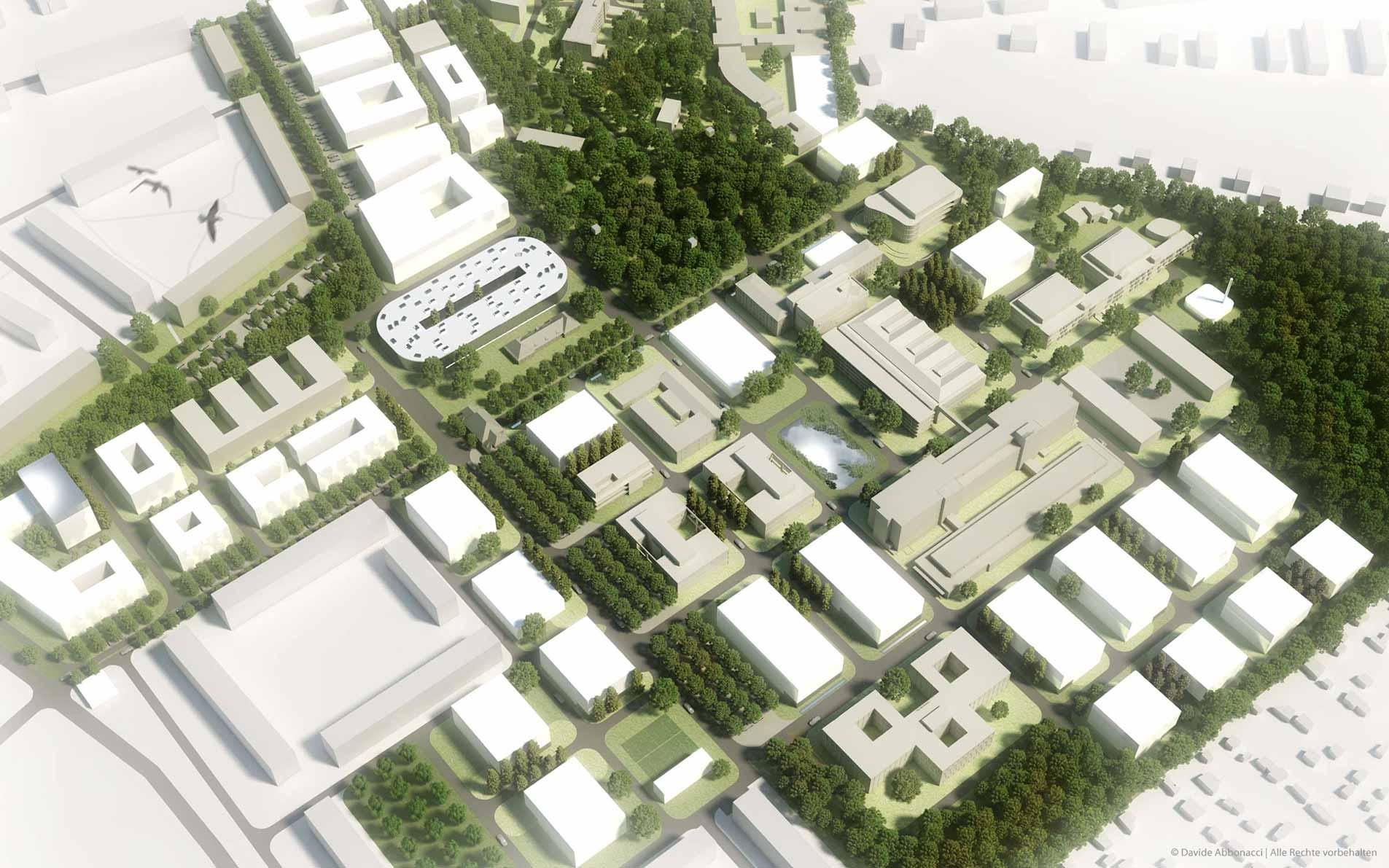 Campus Berlin-Buch, Berlin | Heide & Von Beckerath Architekten | 2010 Wettbewerbsvisualisierung | 2. Preis