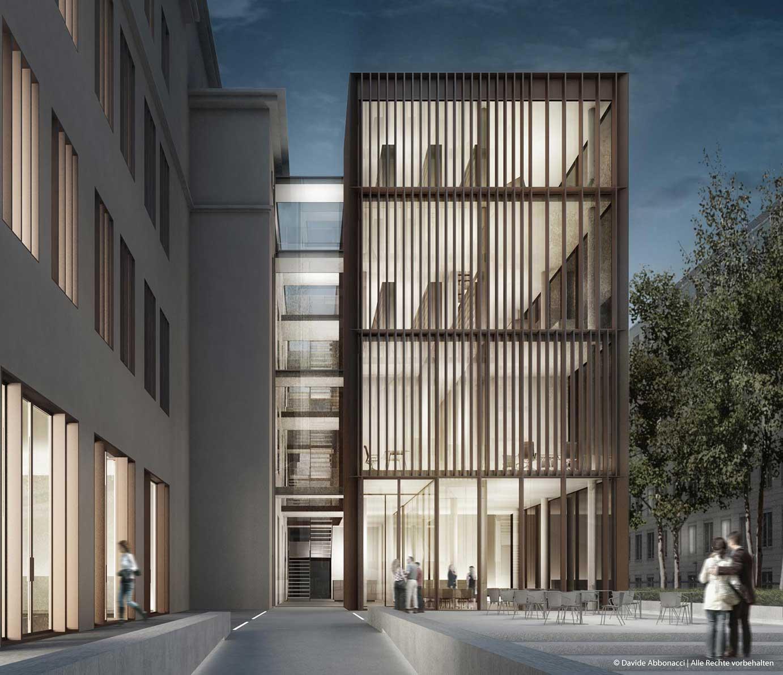Hochschule für Schauspielkunst E.Busch, Berlin | gmp Architekten von Gerkan, Marg und Partner | 2011 Wettbewerbsvisualisierung | Anerkennung