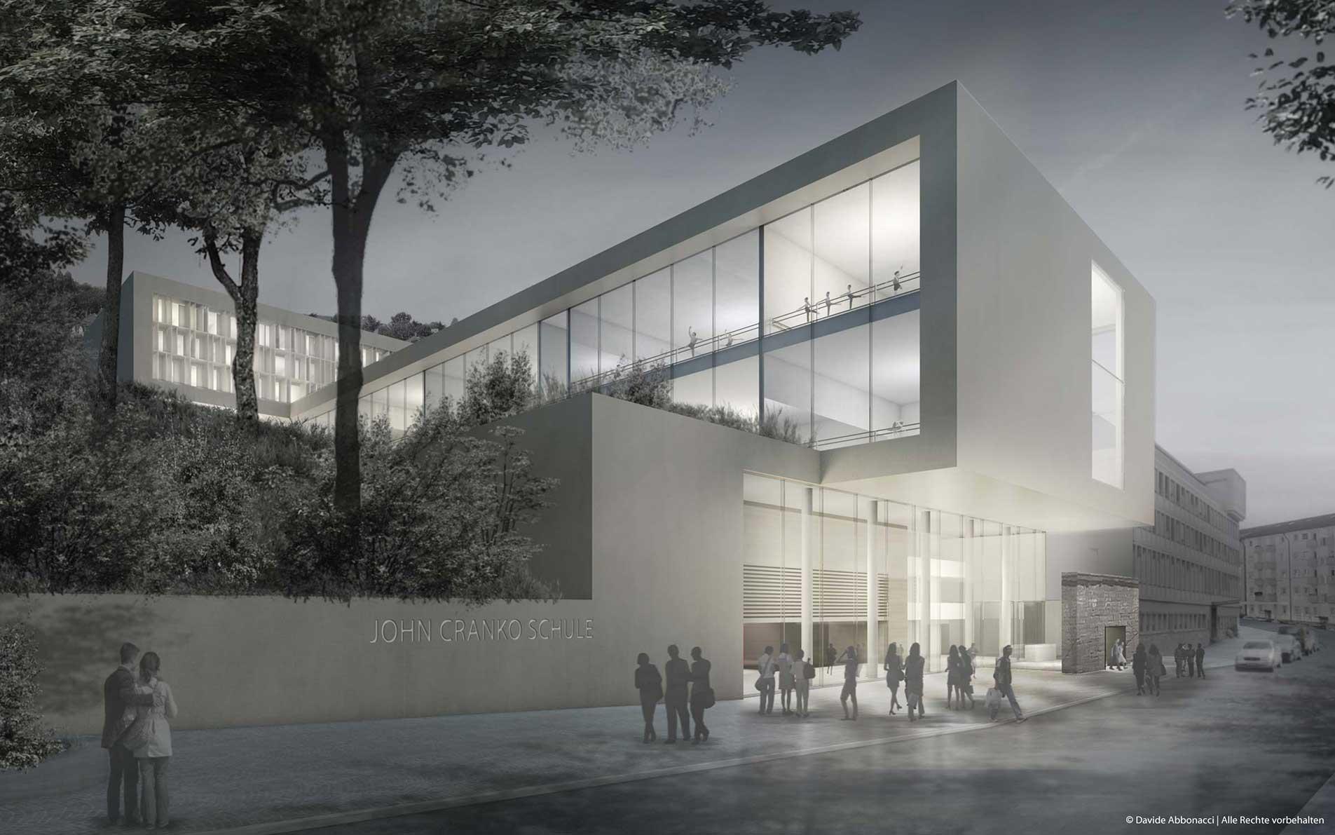 J. Cranko Ballettschule, Stuttgart | gmp Architekten von Gerkan, Marg und Partner | 2011 Wettbewerbsvisualisierung | 2. Preis