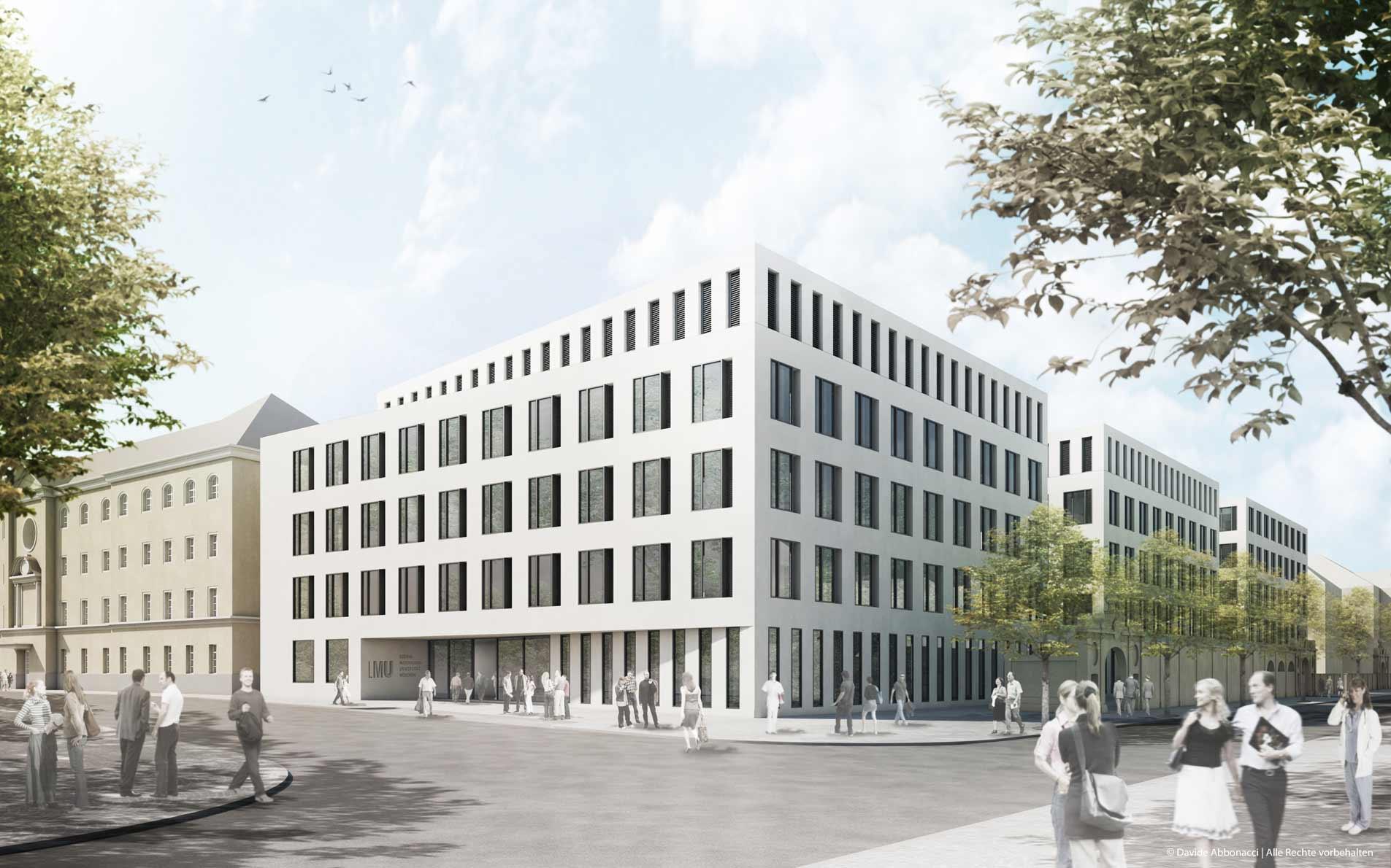 Portalklinik, München | gmp Architekten von Gerkan, Marg und Partner | 2012 Wettbewerbsvisualisierung | 2. Preis