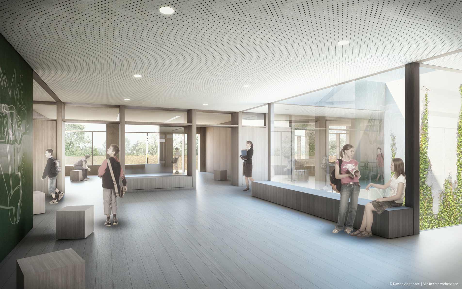Vier Grundschulen in modularer Bauweise, München | Numrich Albrecht Klumpp Architekten | 2013 Wettbewerbsvisualisierung | 3. Preis