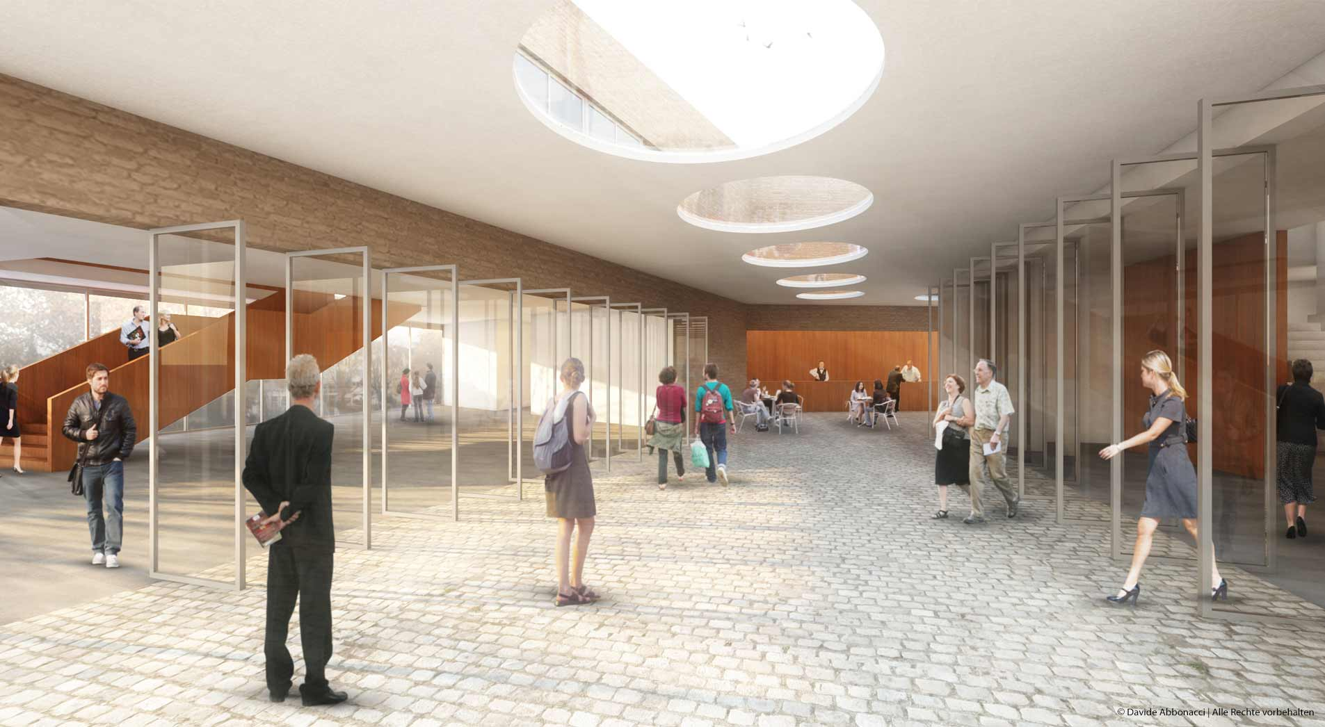 Bernauer Platz und Neubau Bürgerhaus, Bensheim | Ruf+Partner Architekten | 2012 Wettbewerbsvisualisierung | Anerkennung
