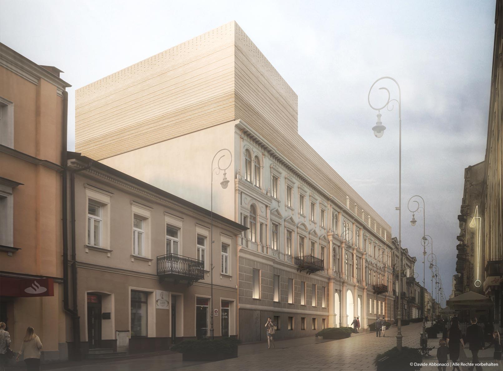 Umbau Zeromski Theater, Kielce, Polen   M-OST Architekten - Patrycja Okuljar mit Malgorzata Zmyslowska   2017 Wettbewerbsvisualisierung   2. Preis