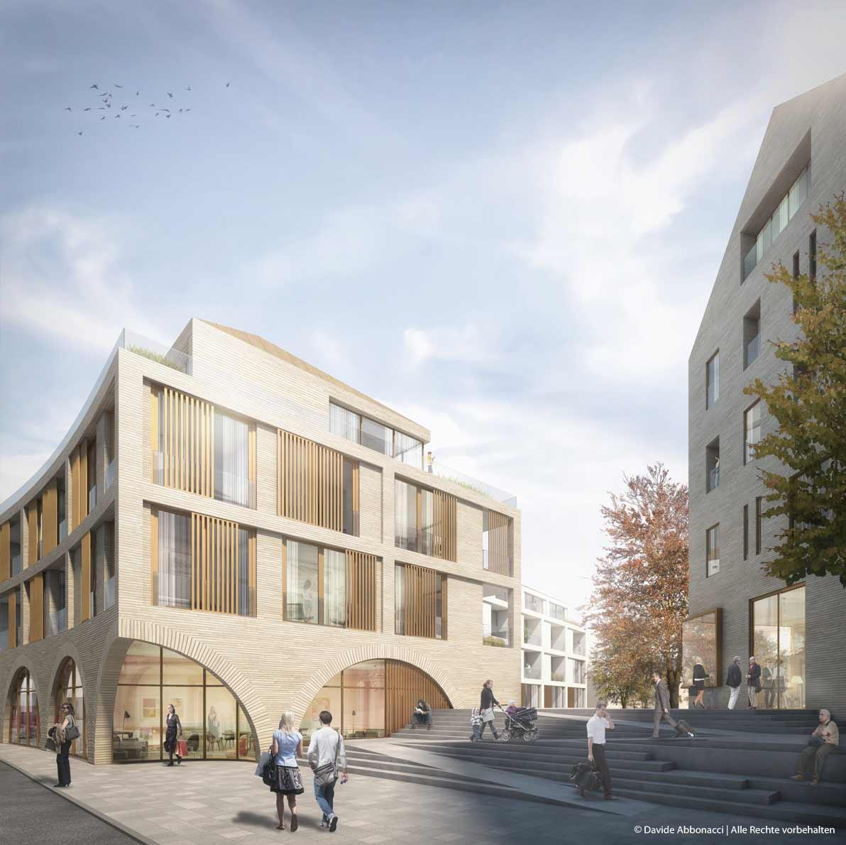 Bistumshaus St. Ludwig, Speyer | Motorlab Architekten | 2015 Wettbewerbsvisualisierung | 2. Preis