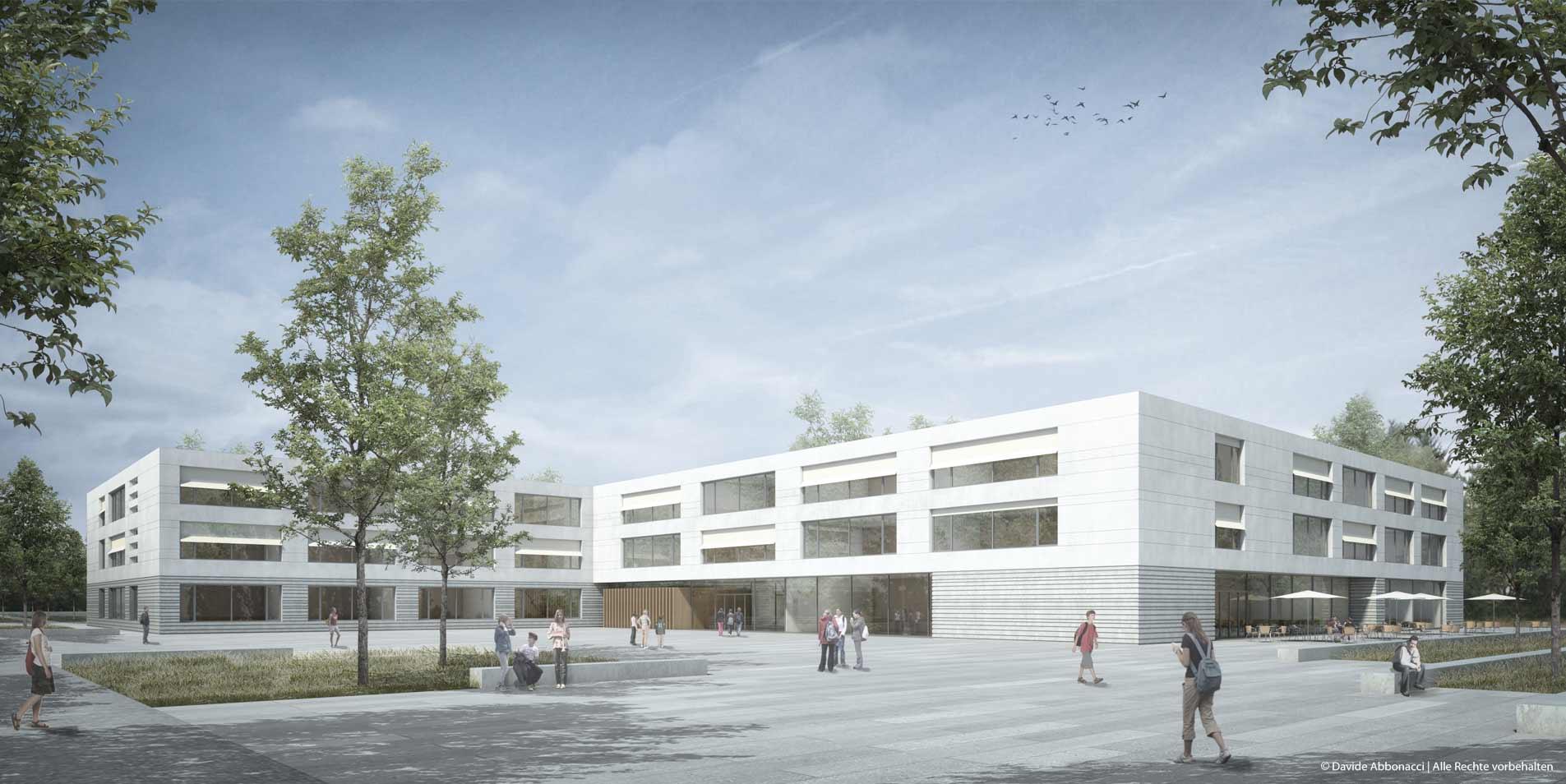 Neubau der Clay-Schule, Berlin | Numrich Albrecht Klumpp Architekten | 2015 Wettbewerbsvisualisierung | 3. Preis