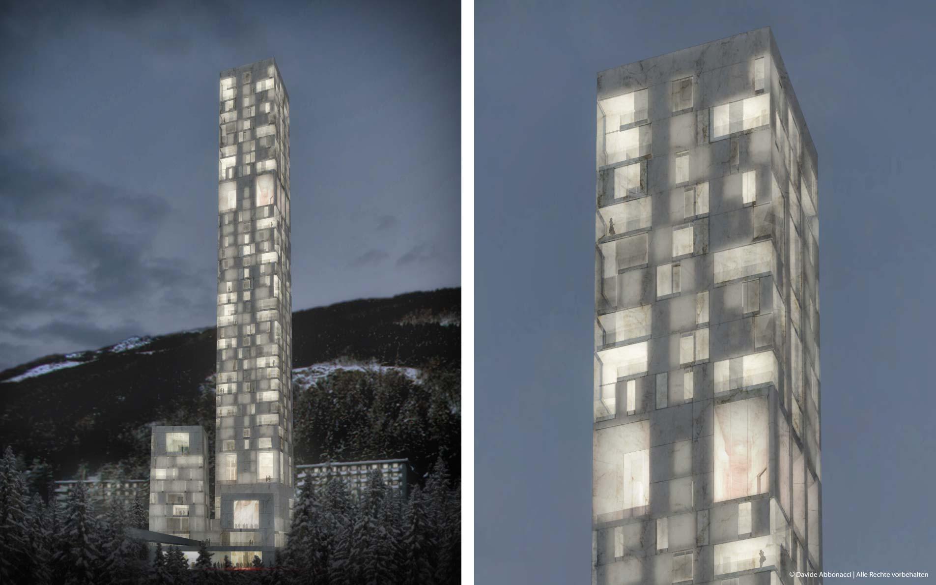 7132 Hotel Therme in Vals, Schweiz | Max Dudler Architekt | 2014 Wettbewerbsvisualisierung