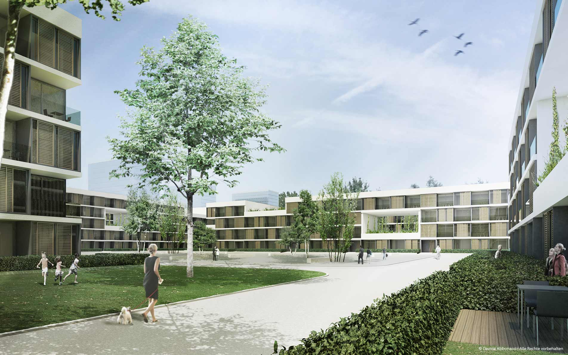 Olympisches Dorf und Mediendorf, München | gmp Architekten von Gerkan, Marg und Partner | 2010 Wettbewerbsvisualisierung