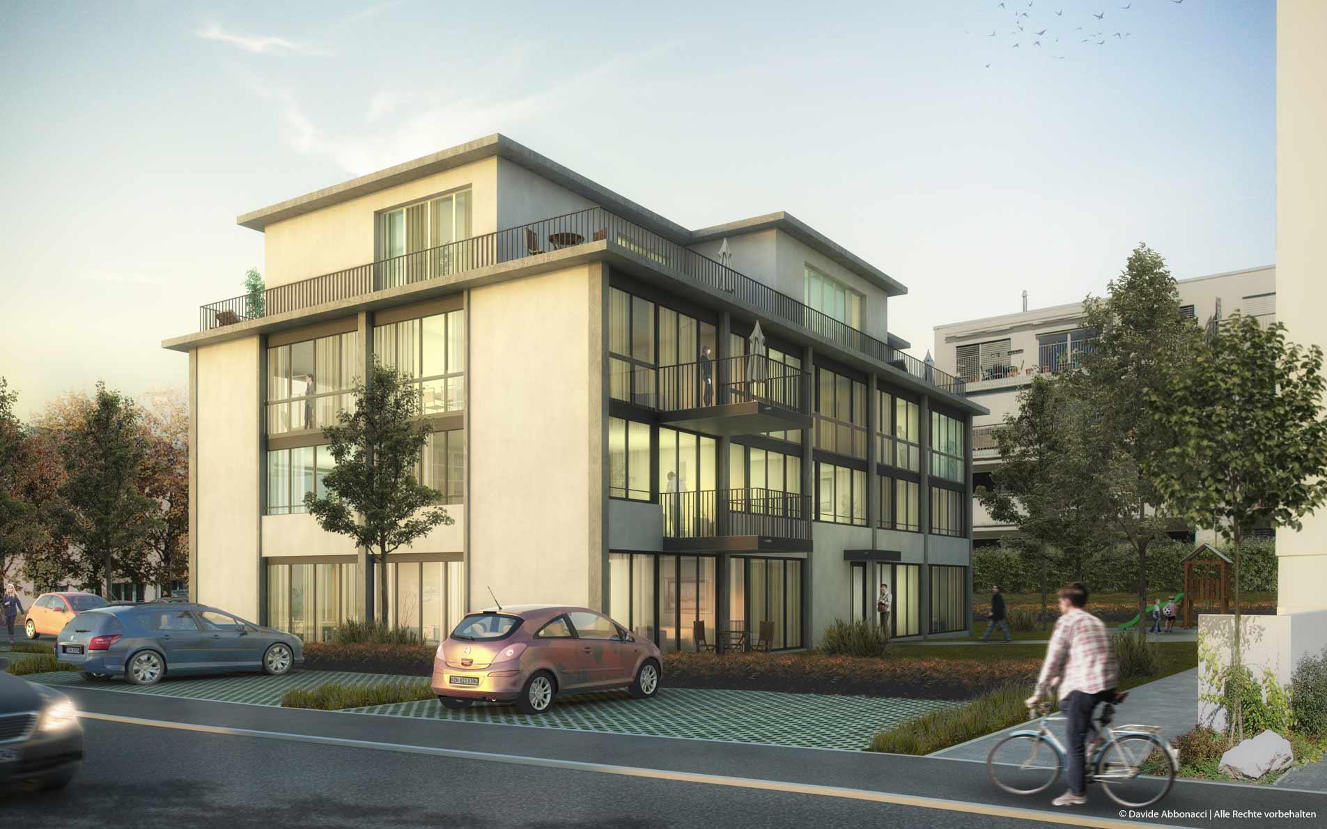 Umbau Werkstattgebäude, Undermülistrasse 12, Fehraltorf - Schweiz | BB&I Architekten | 2015 Visualisierung Projektpräsentation