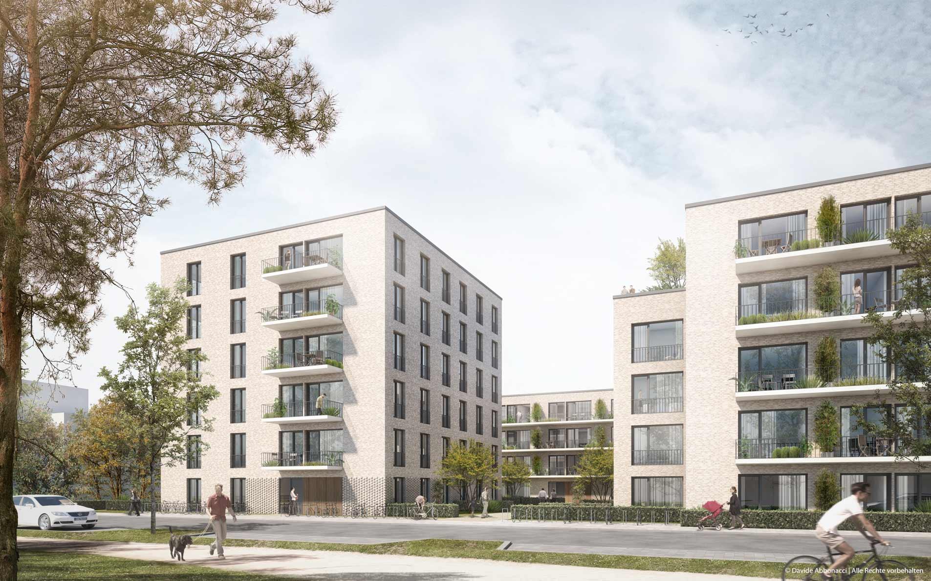 Fischerhüttenstraße, Berlin-Zehlendorf | brh Architekten + Ingenieure | 2016 Wettbewerbsvisualisierung | 2. Preis