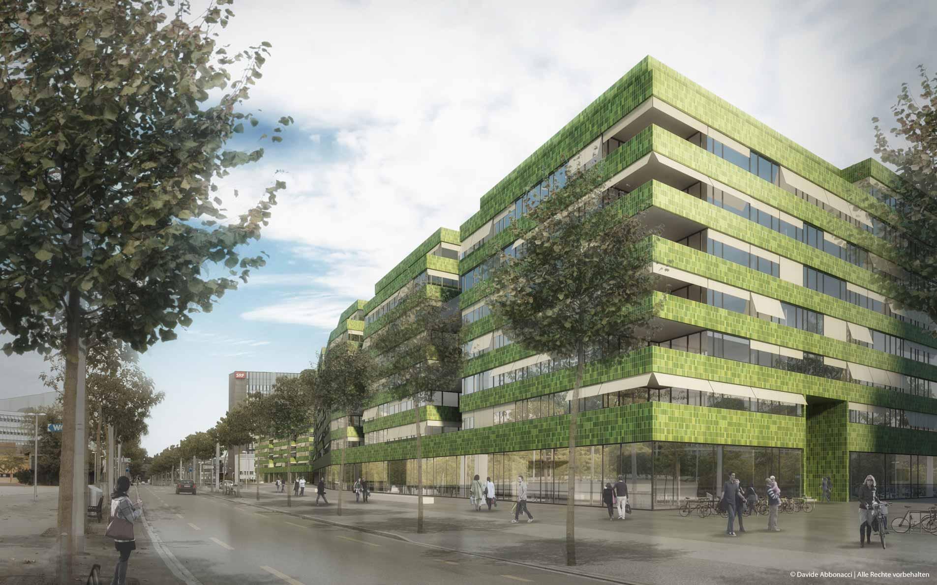 Wohnen in Leuchtenbach-Mitte, Zürich - Schweiz | Kuehn Malvezzi Architekten | 2014 Wettbewerbsvisualisierung