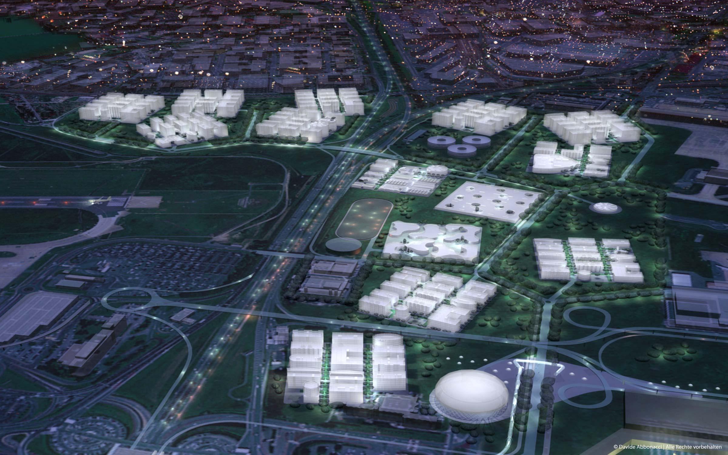 Coeur d'Orly, Paris | LIN Architects Urbanists | 2006 Wettbewerbsvisualisierung