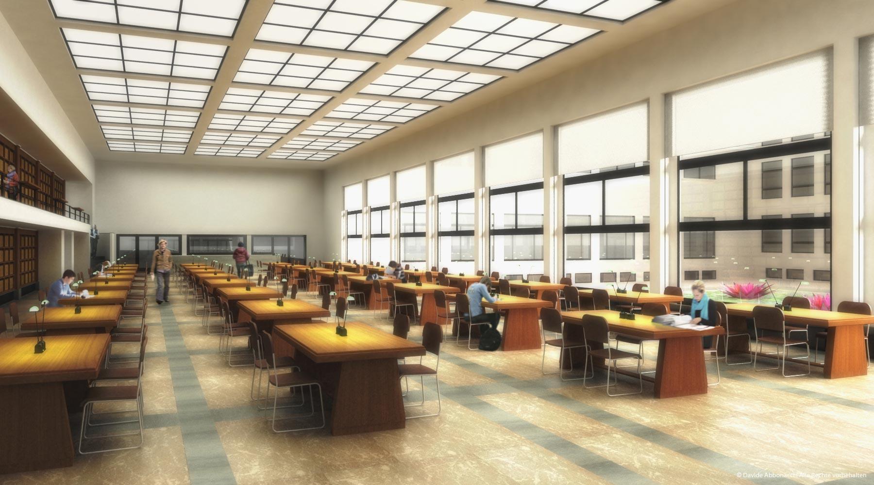Universitätsbibliothek Van Der Velde, Gent | LIN Architects Urbanists | 2007 Wettbewerbsvisualisierung