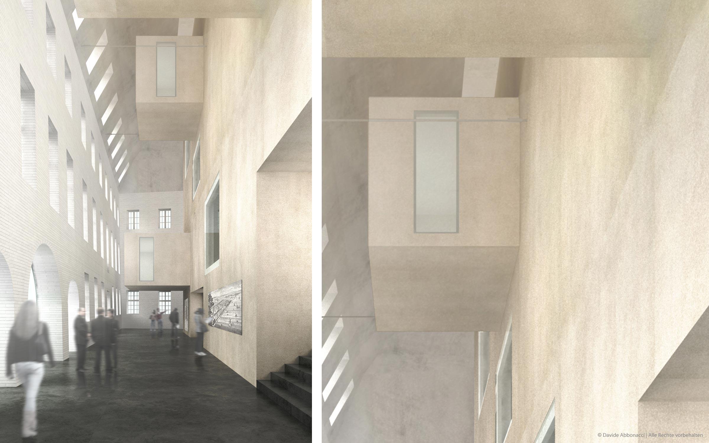 Eltzer Hof, Mainz | Bruno Fioretti Marquez Architekten | 2008 Wettbewerbsvisualisierung