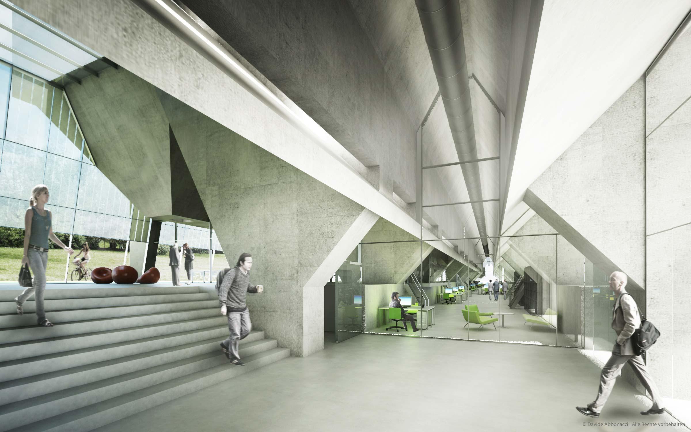 Umbau Erz- und Kohlebunker, Gelsenkirchen | ind-initialdesign | 2010 Akquise | Studie