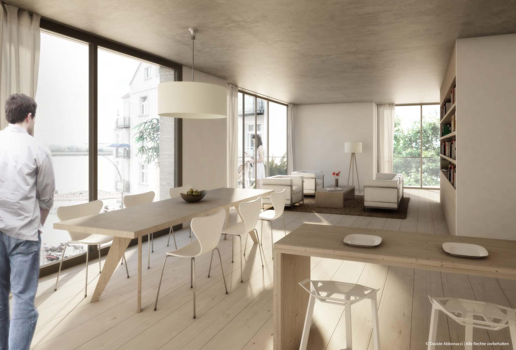 Köhlbrandtreppe, Hamburg | Dierks Sachs Architekten | 2012 Wettbewerbsvisualisierung