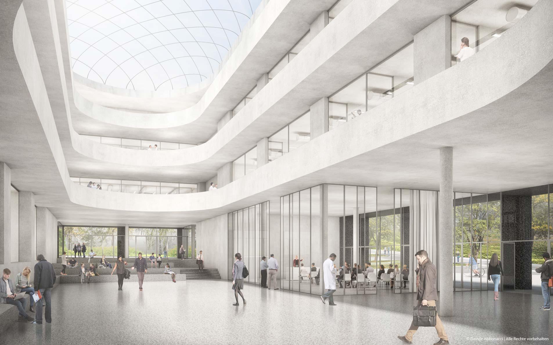Forschungsgebäude Zentrum Biophysik der UdS, Saarbrücken | Kuehn Malvezzi Architekten | 2019 Wettbewerbsvisualisierung