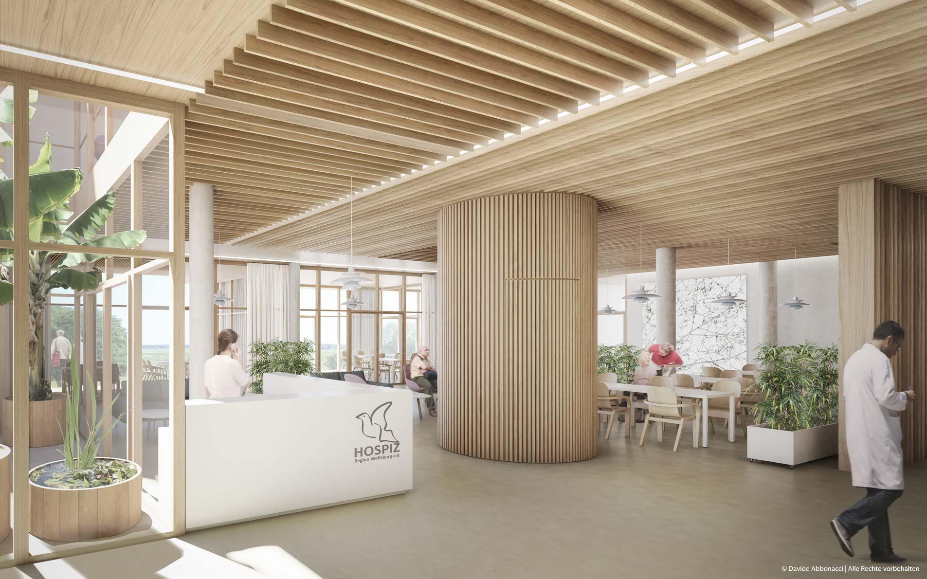 Hospiz Region Wolfsburg e.V., Heiligendorf | Heller & Koller Architekten | 2018 Wettbewerbsvisualisierung