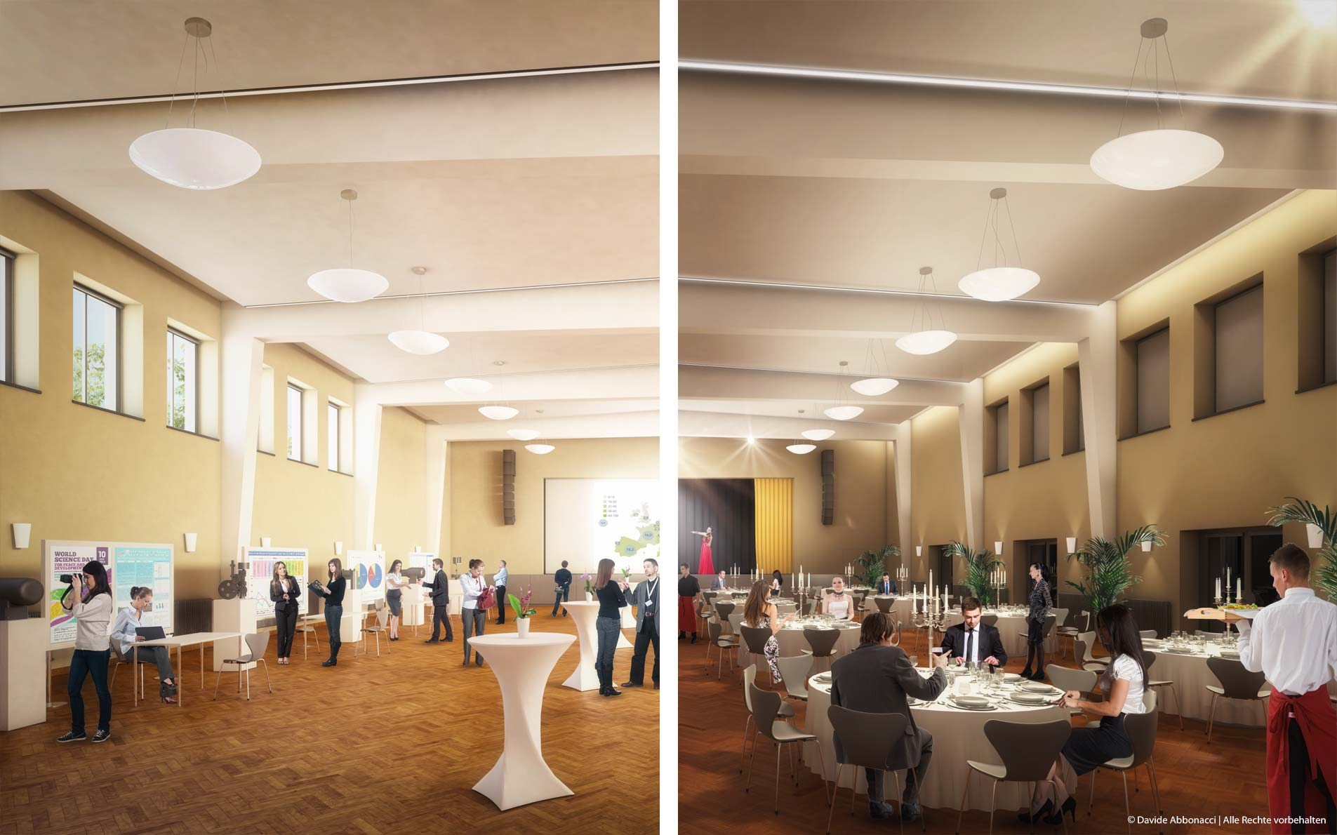 "Umbau Veranstaltungsraum ""Bunsensaal"", Berlin-Adlershof | Numrich Albrecht Klumpp Architekten | 2014 Projektvisualisierung"