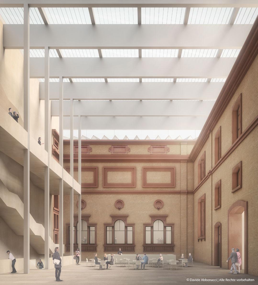 Staatliche Kunsthalle Karlsruhe | Kuehn Malvezzi Architekten | 2017 Wettbewerbsvisualisierung