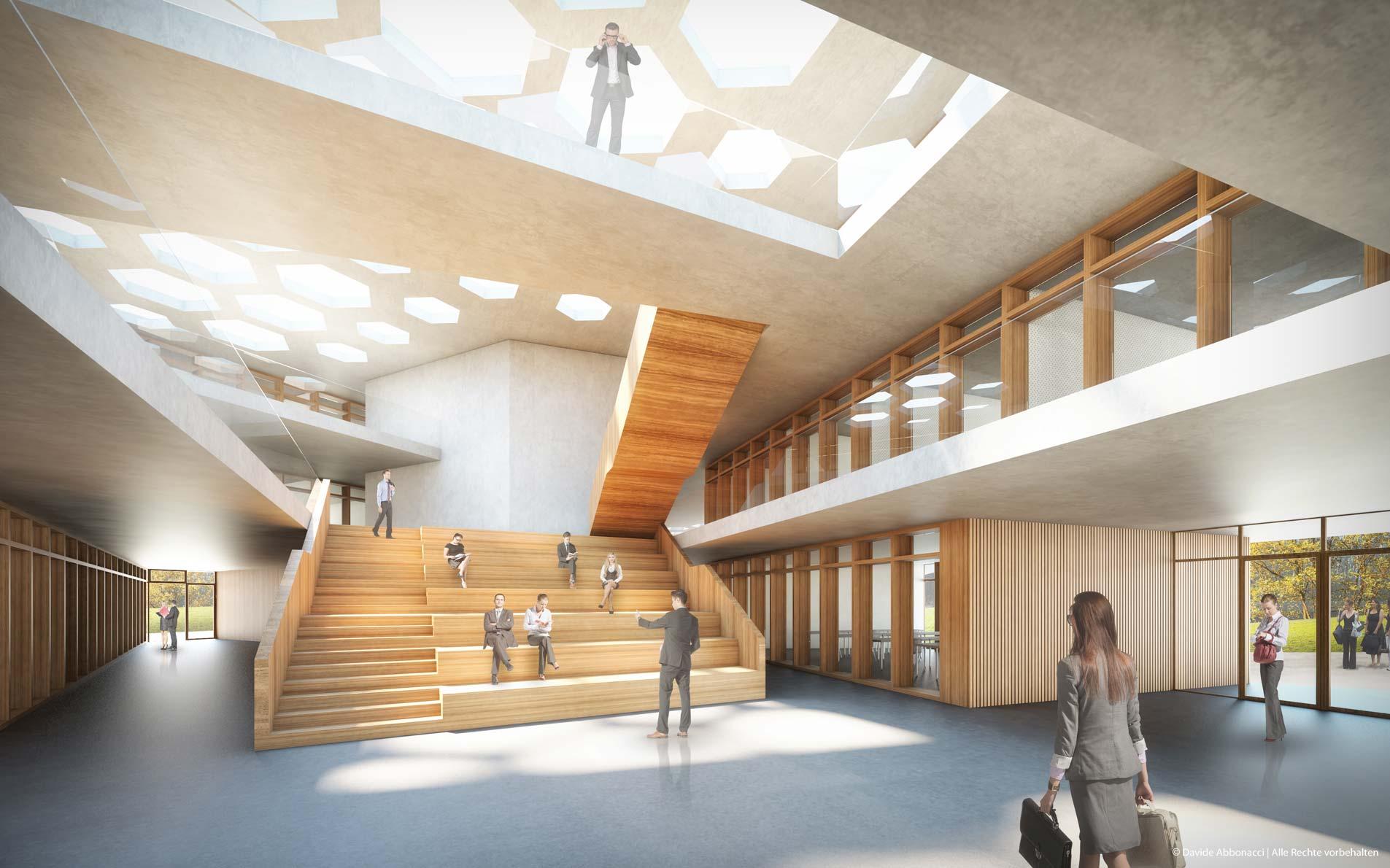 AIZ Erweiterung, Bonn-Röttgen | Numrich Albrecht Klumpp Architekten | 2014 Wettbewerbsvisualisierung