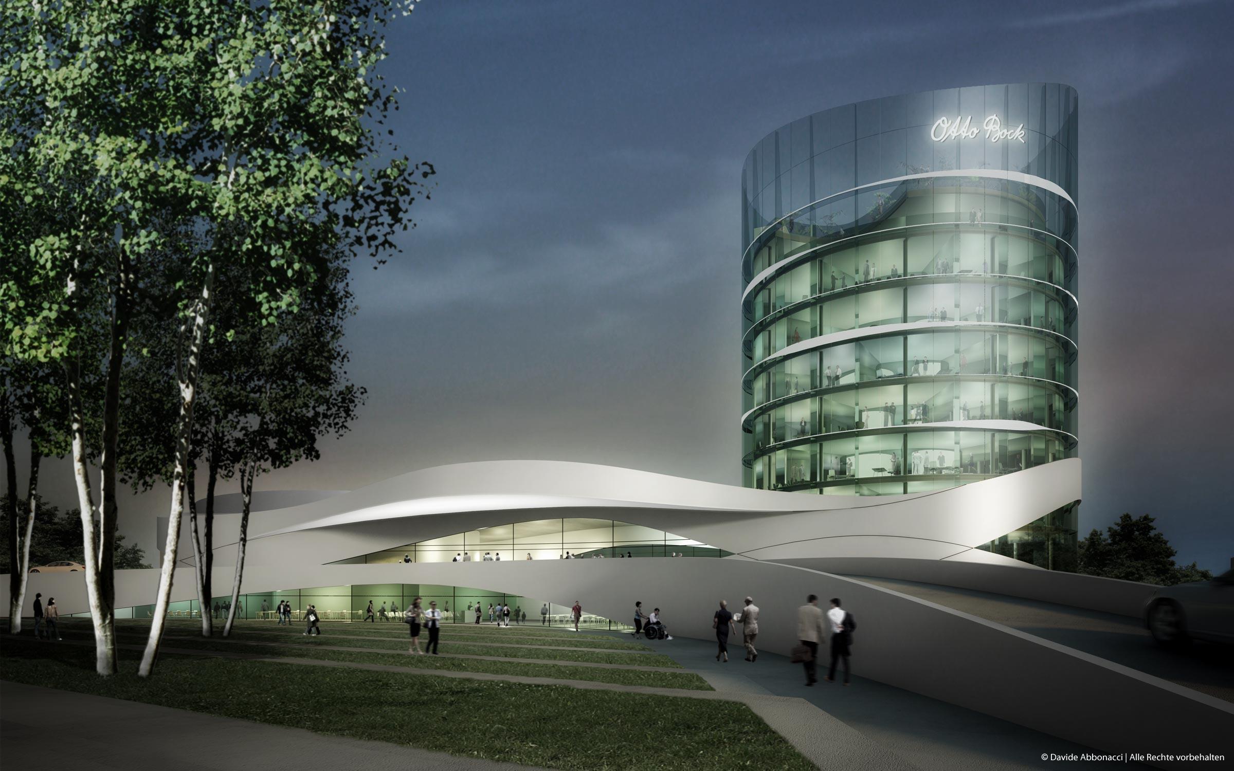 Firmenzentrale Otto Bock, Duderstadt | Gnädinger Architekten | 2009 Wettbewerbsvisualisierung