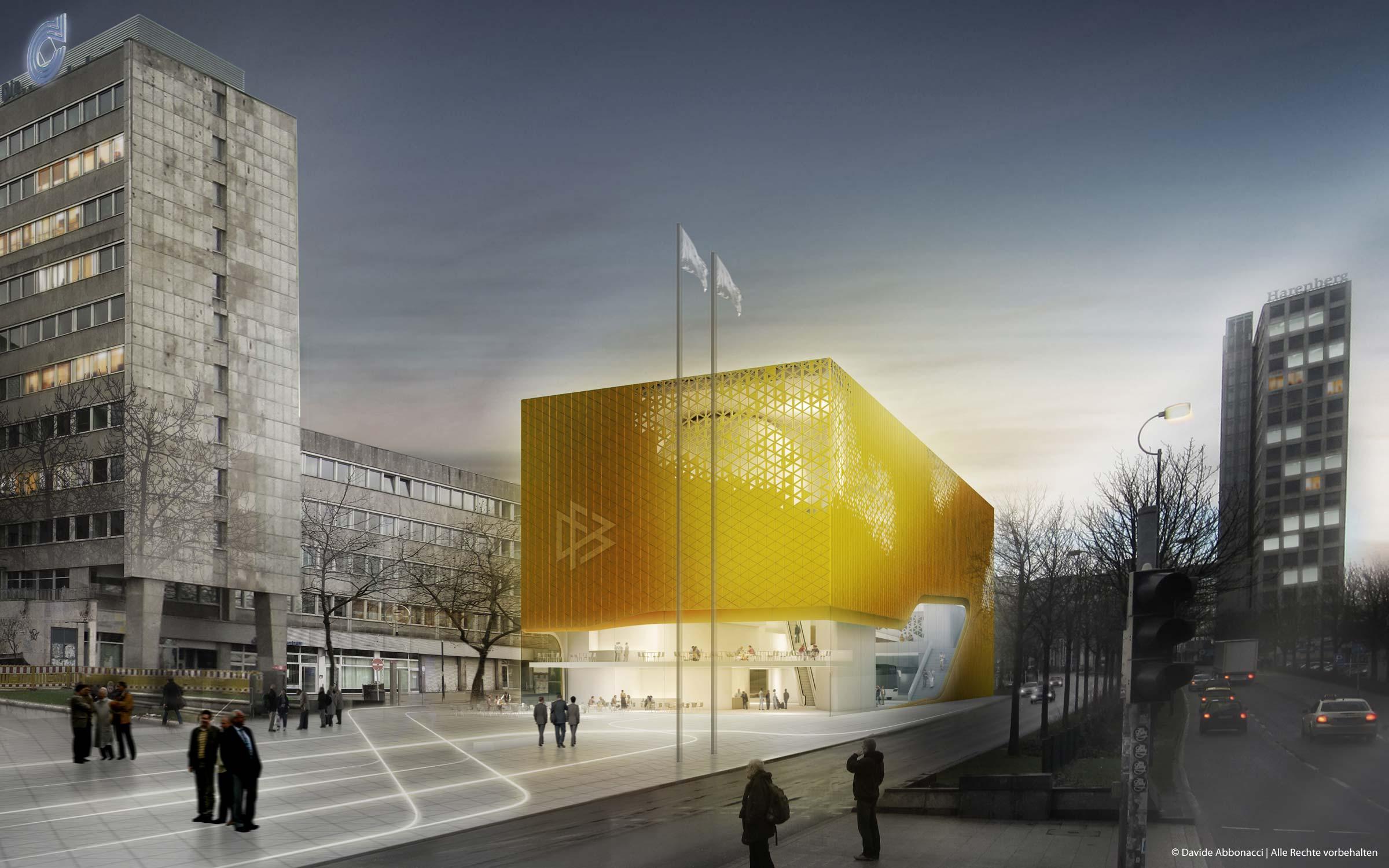 DFB Museum, Dortmund | Numrich Albrecht Klumpp Architekten | 2011 Wettbewerbsvisualisierung