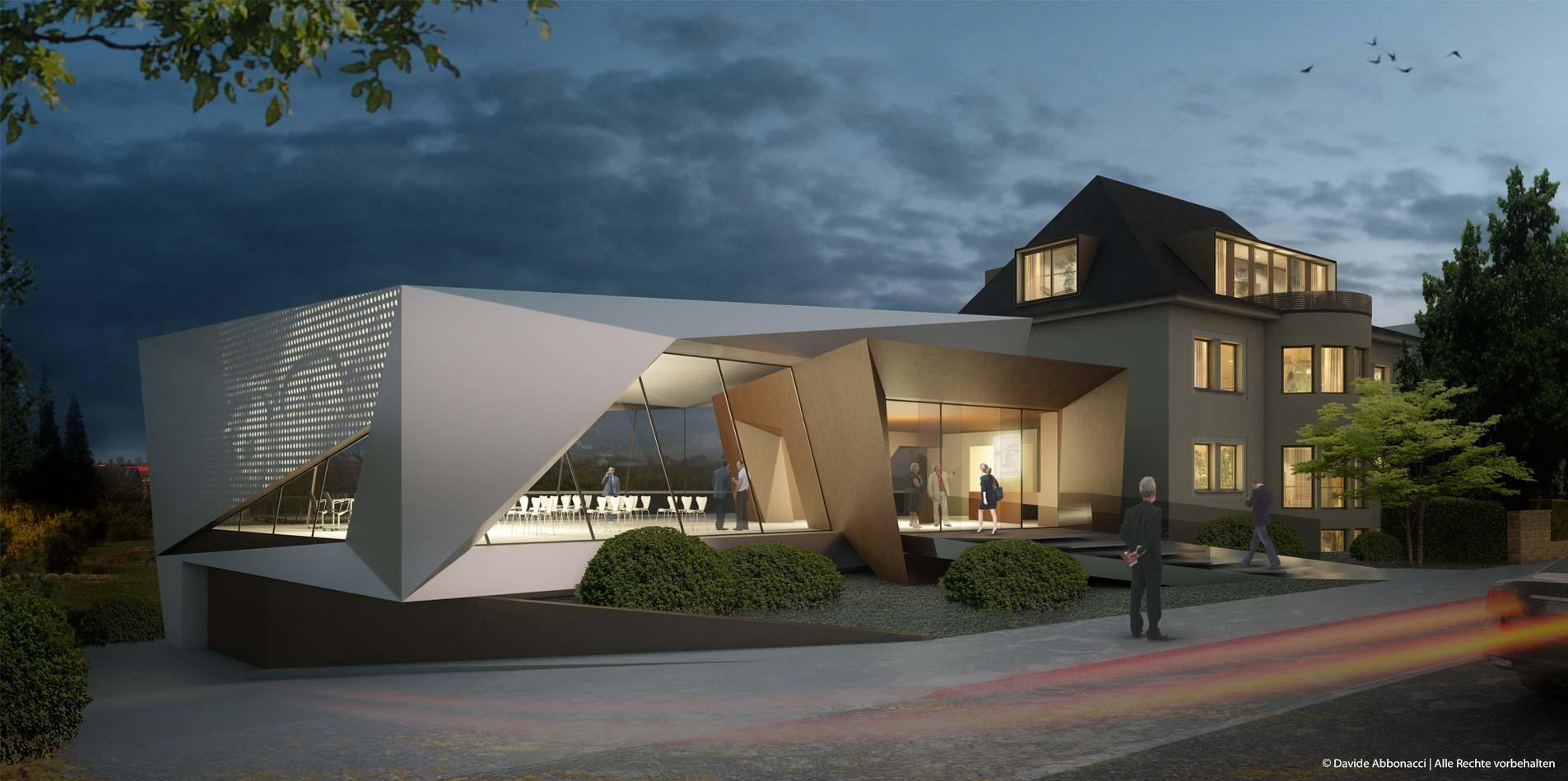 Haus am Hindenburgring, Duderstadt | Gnädinger Architekten | 2012 Bauschild Visualisierung