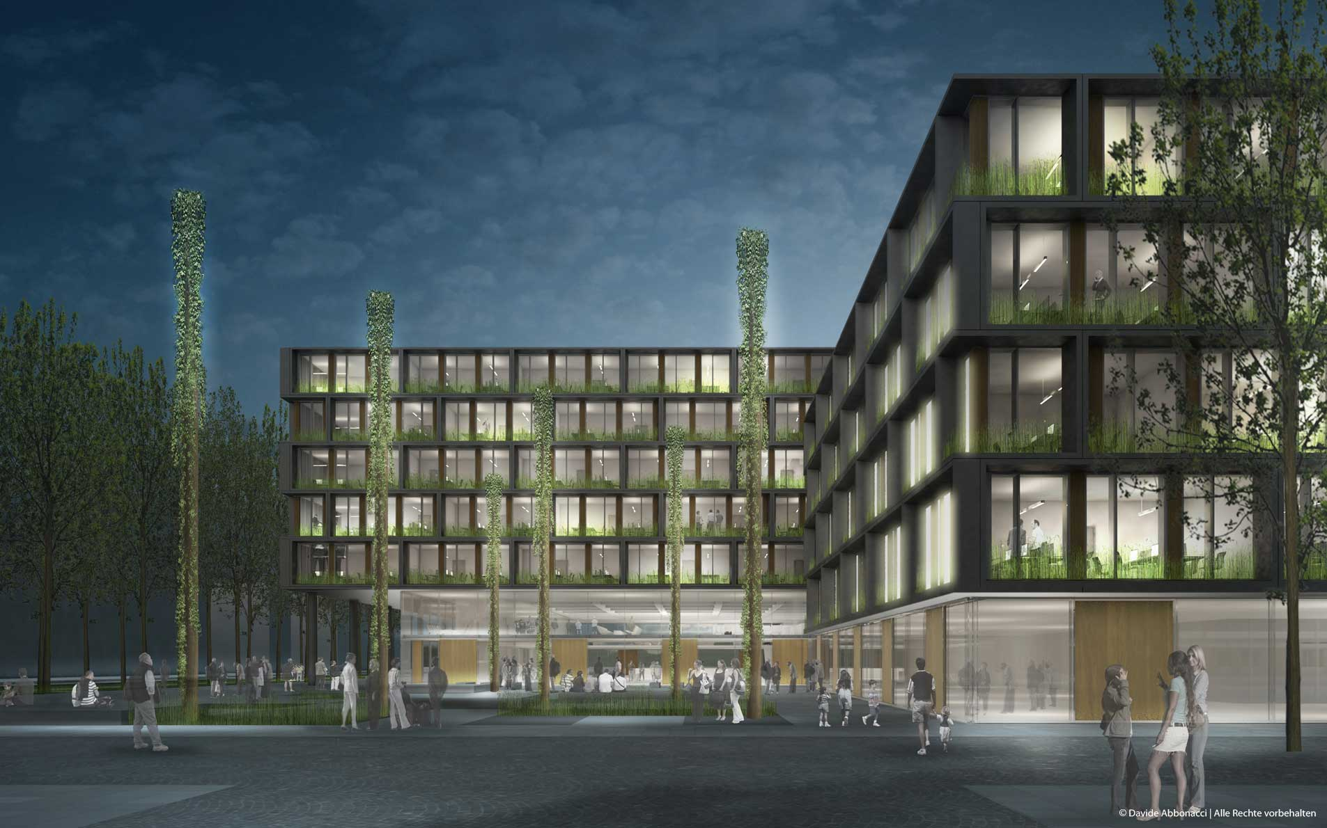 Neubau Verwaltungsbau, Stadt Freiburg | gmp Architekten von Gerkan, Marg und Partner | 2013 Wettbewerbsvisualisierung
