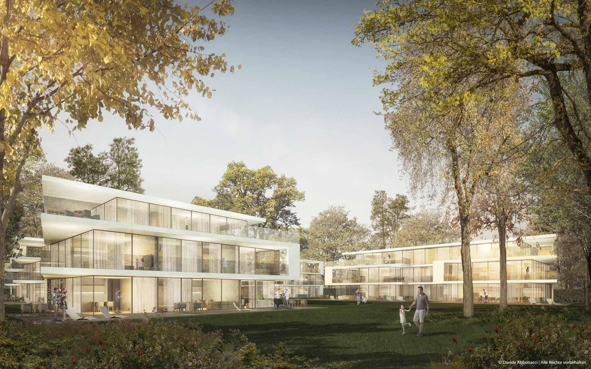 Wohnbebauung Tannhof, München-Harlaching | Gewers Pudewill Architekten | 2017 Wettbewerbsvisualisierung