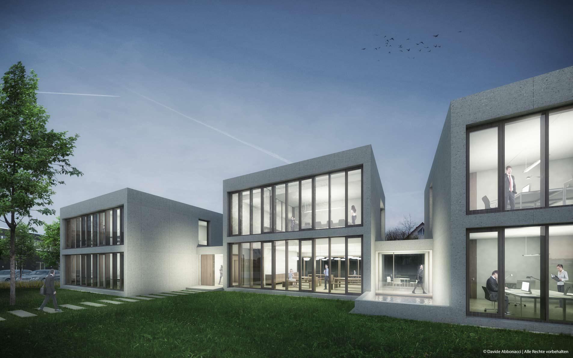 Neubau Verwaltungsgebäude, Kranzberg | Dominikus Stark Architekten | 2013 Projektvisualisierung