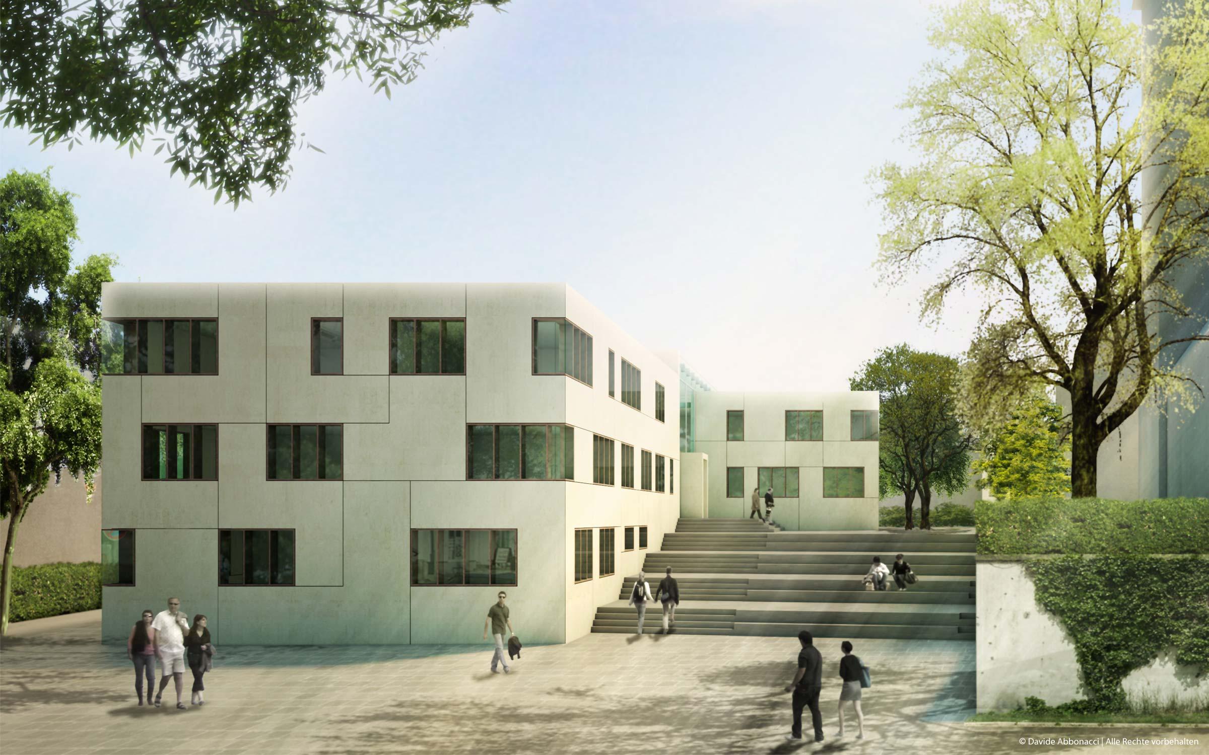 Rathaus Leingarten | Christine Edmaier Architektin | 2009 Wettbewerbsvisualisierung