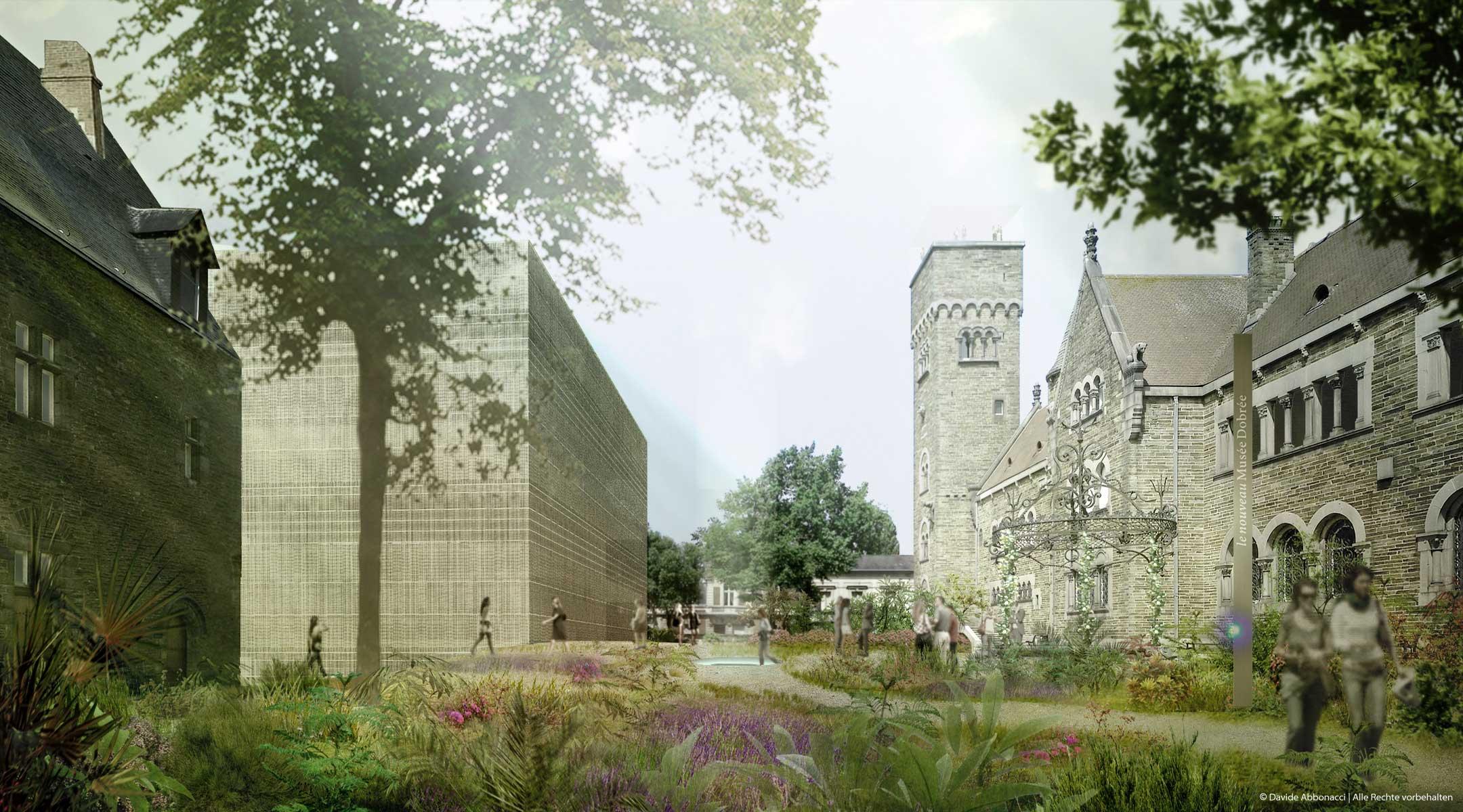 Musèe Dobrèe, Nantes | LIN Architects Urbanists | 2009 Wettbewerbsvisualisierung | Mitarbeiter: Tom Hemmerich