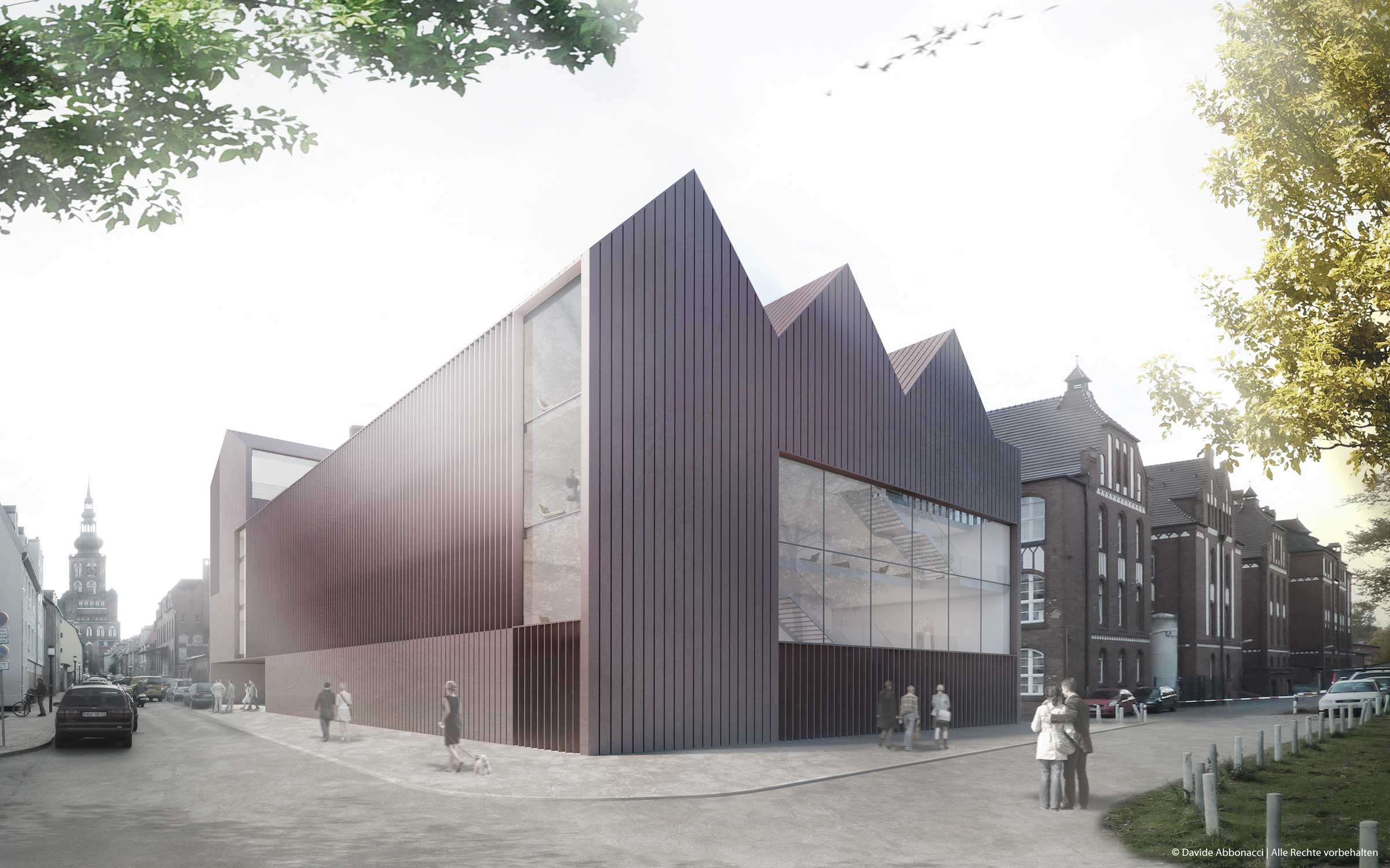 Ernst-Moritz-Arndt Universität, Greifswald | gmp Architekten von Gerkan, Marg und Partner | 2011 Wettbewerbsvisualisierung
