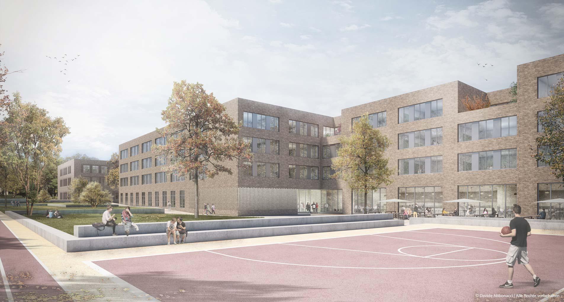Schulcampus Altona, Hamburg | Hemprich Tophof Architekten | 2018 Wettbewerbsvisualisierung