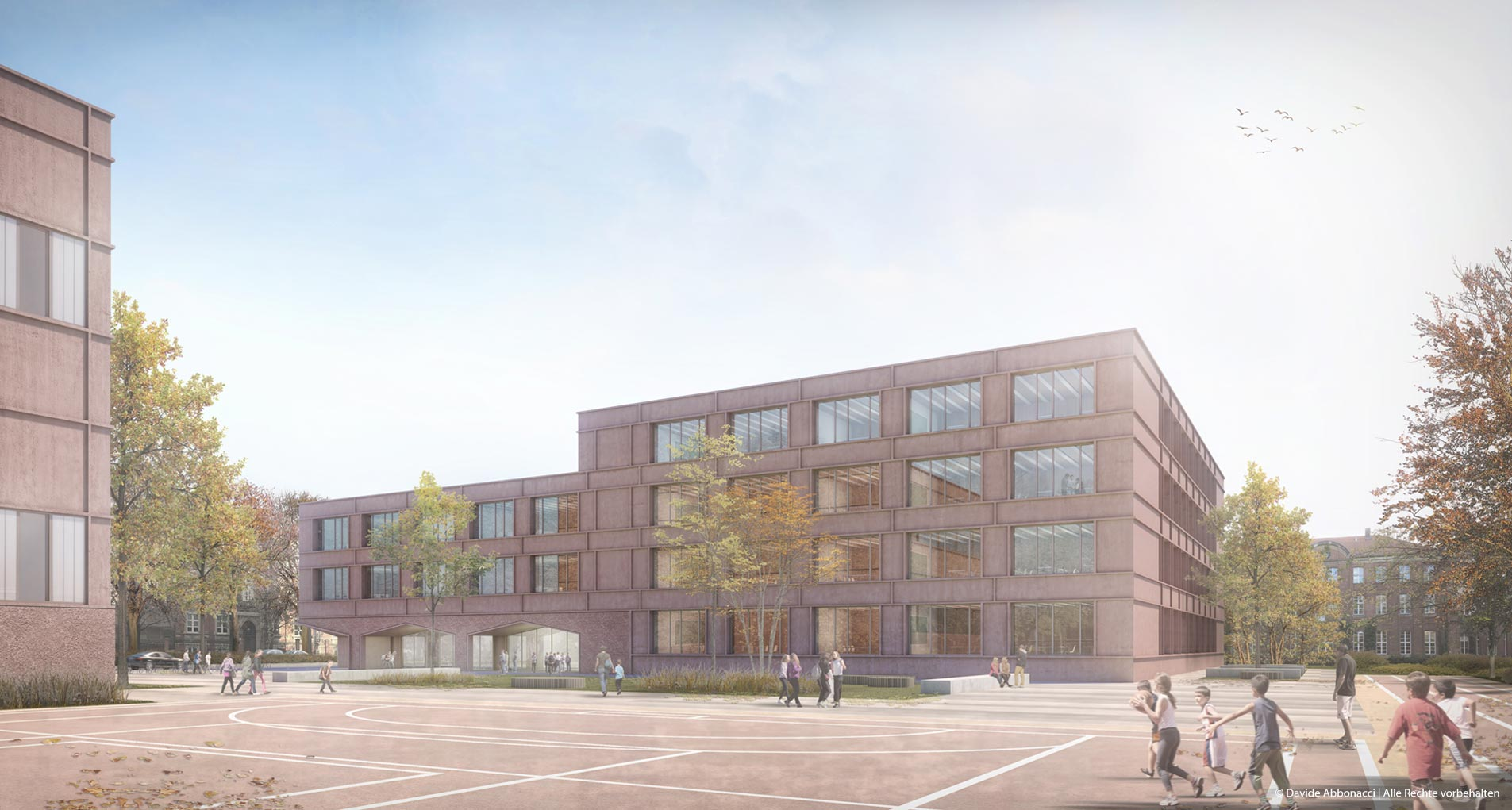 Modulare Grundschulen, Reinickendorfer Straße, Berlin | Numrich Albrecht Klumpp Architekten | 2018 Wettbewerbsvisualisierung