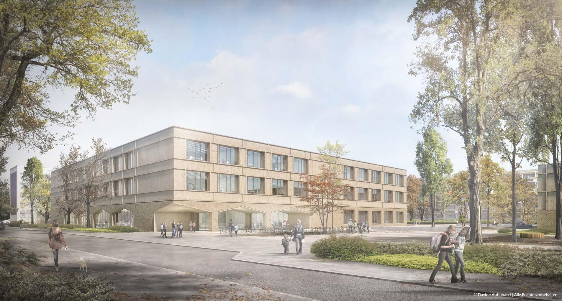 Modulare Grundschulen, Karower Chaussee, Berlin | Numrich Albrecht Klumpp Architekten | 2018 Wettbewerbsvisualisierung