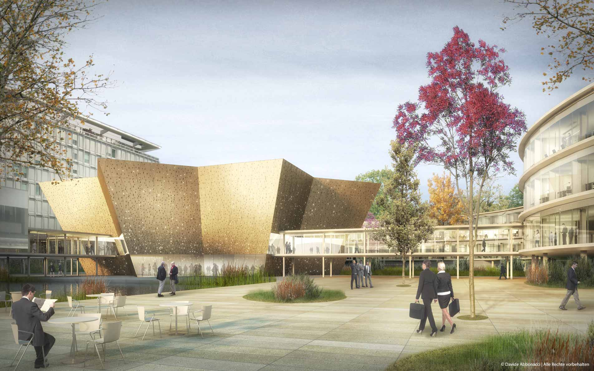 WHO Headquarters Building Extension, Geneva - Switzerland | Adjaye Associates  | 2014 Wettbewerbsvisualisierung